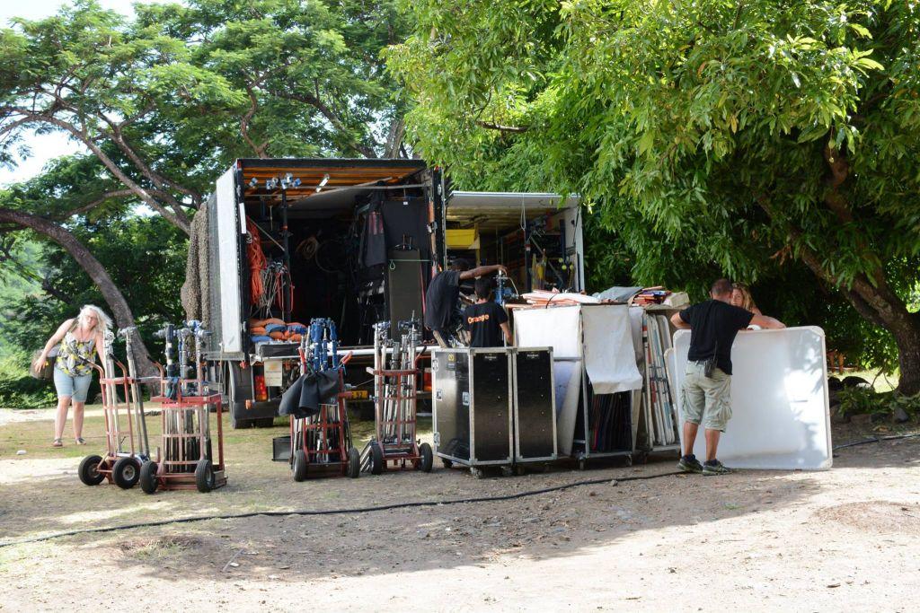GUADELOUPE. Tournage de la série Meurtres au paradis à Bouillante