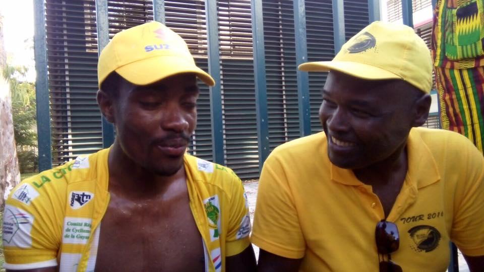 GUYANE . Tour cycliste, victoire du Guadeloupéen Cédric LOCATIN, communiqué du Président de la Région Guadeloupe.