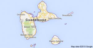 GUADELOUPE. sauvetage en mer de 2 personnes suite à une avarie d'avion.