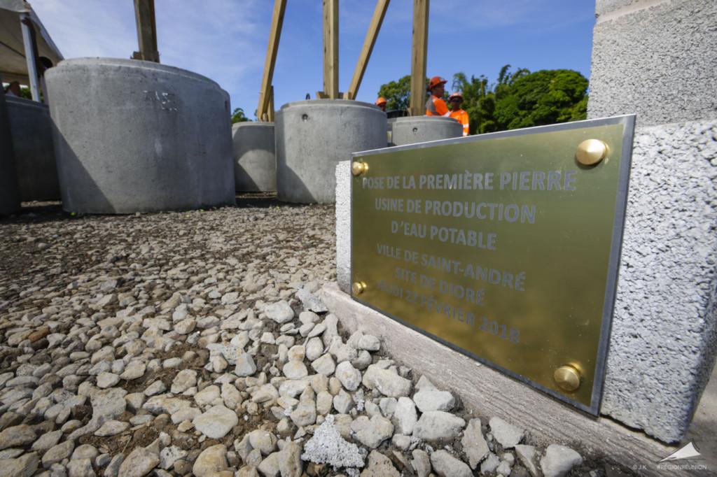 REUNION. Unité de potabilisation de l'eau de Dioré