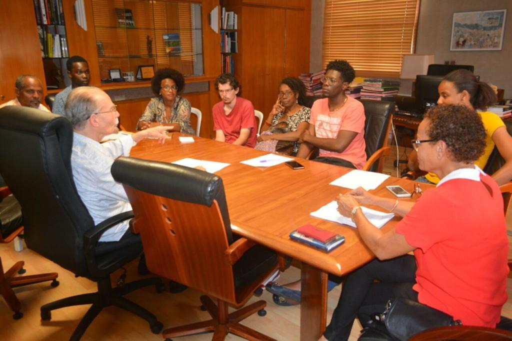 MARTINIQUE. Le Président Alfred Marie-Jeanne rencontre une délégation d'étudiants de l'Université