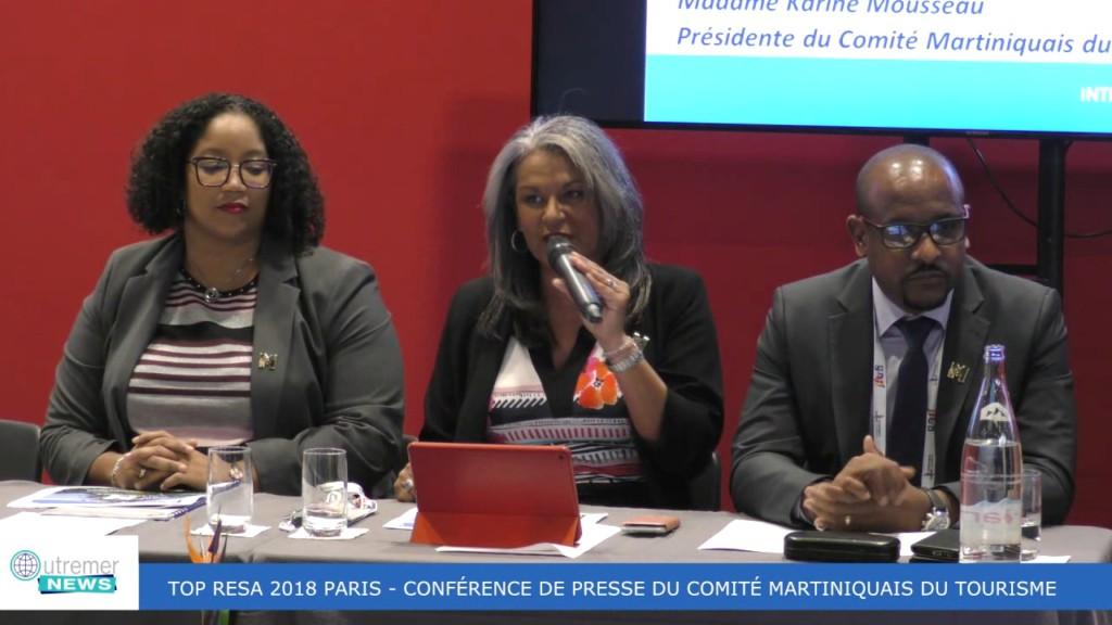 [Vidéo] MARTINIQUE. TOP RESA 2018 Conférence de presse du Comité Martiniquais du Tourisme