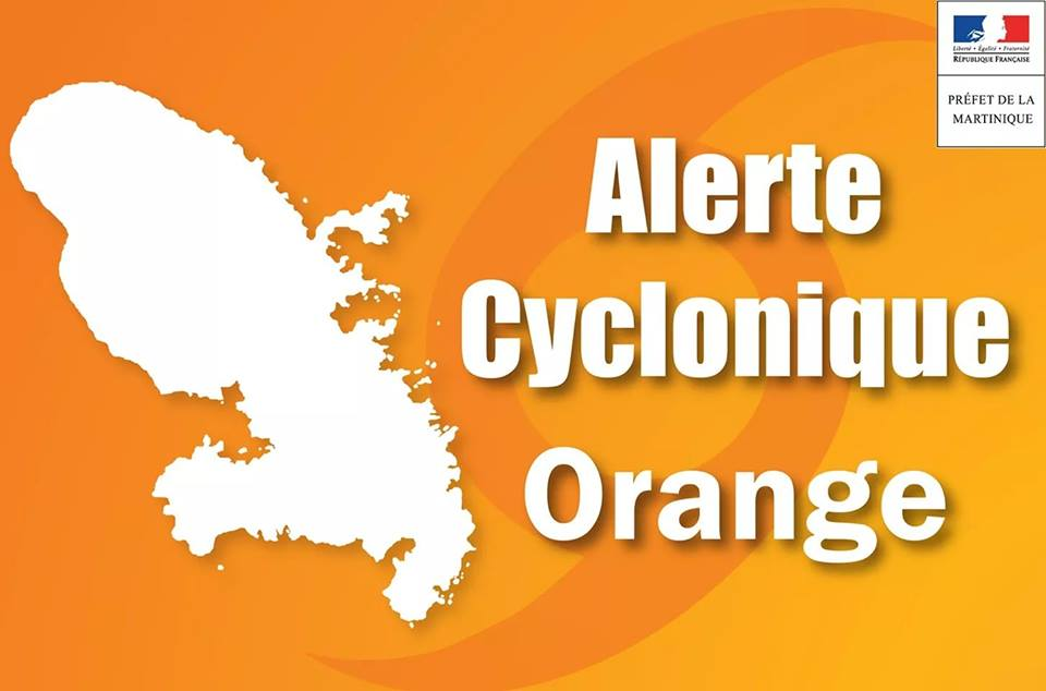 MARTIINIQUE. Tempête tropicale KIRK : passage en alerte cyclonique ORANGE.