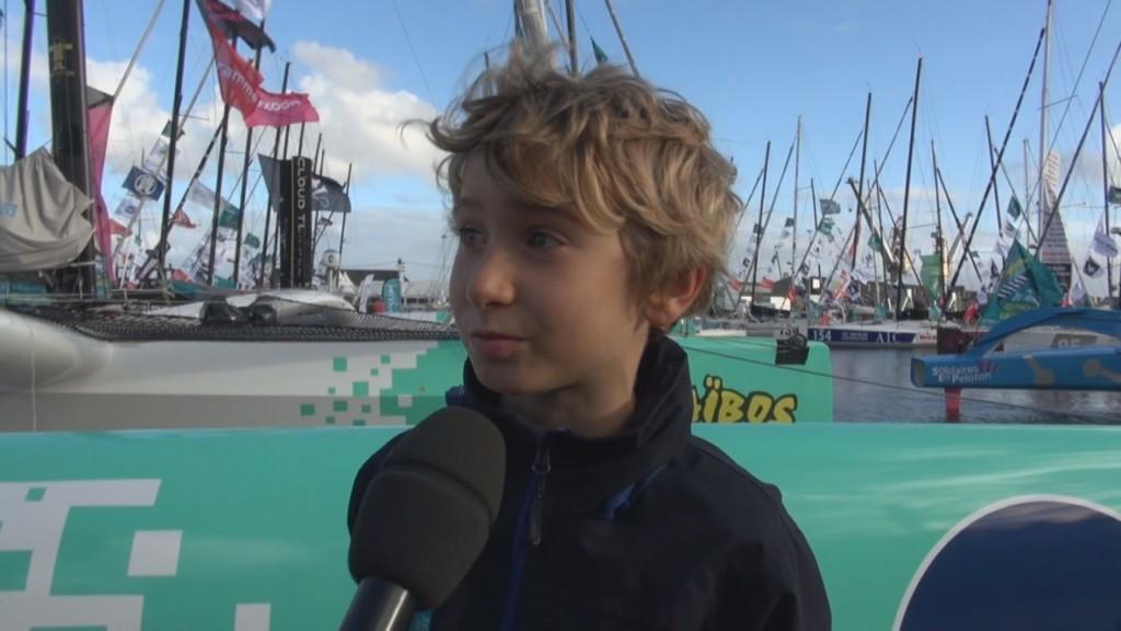 [Vidéo] HEXAGONE. Spéciale Route du Rhum à Saint Malo. interview de Jean et Thomas père et fils du Skipper Gilles LAMIRE