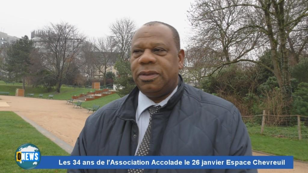 [Vidéo] HEXAGONE.Les 34 ans de l'association ACCOLADE le 26 janvier Espace Chevreuil à Nanterre