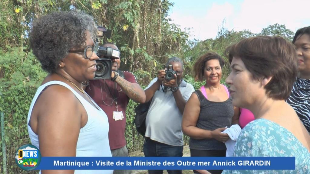 [Vidéo] MARTINIQUE. Visite de Annick GIRARDIN Ministre des Outre mer