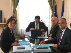 HEXAGONE. Le Président du Conseil Départemental de La Réunion, Cyrille Melchior rencontre la ministre des Outre mer