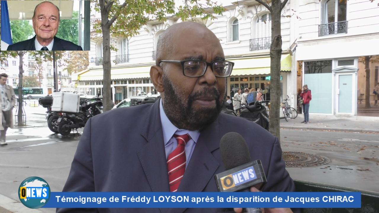 [Vidéo]. Hexagone.Suite au décès de Jacques CHIRAC, témoignage de Freddy LOYSON qui a bien connu l ancien Chef d'Etat