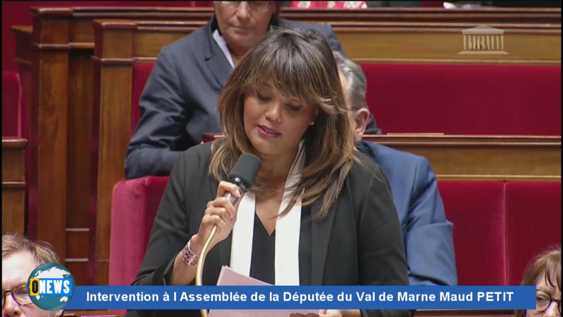 [Vidéo]; HEXAGONE. Intervention à l Assemblée de la Députée du Val de Marne Maud PETIT