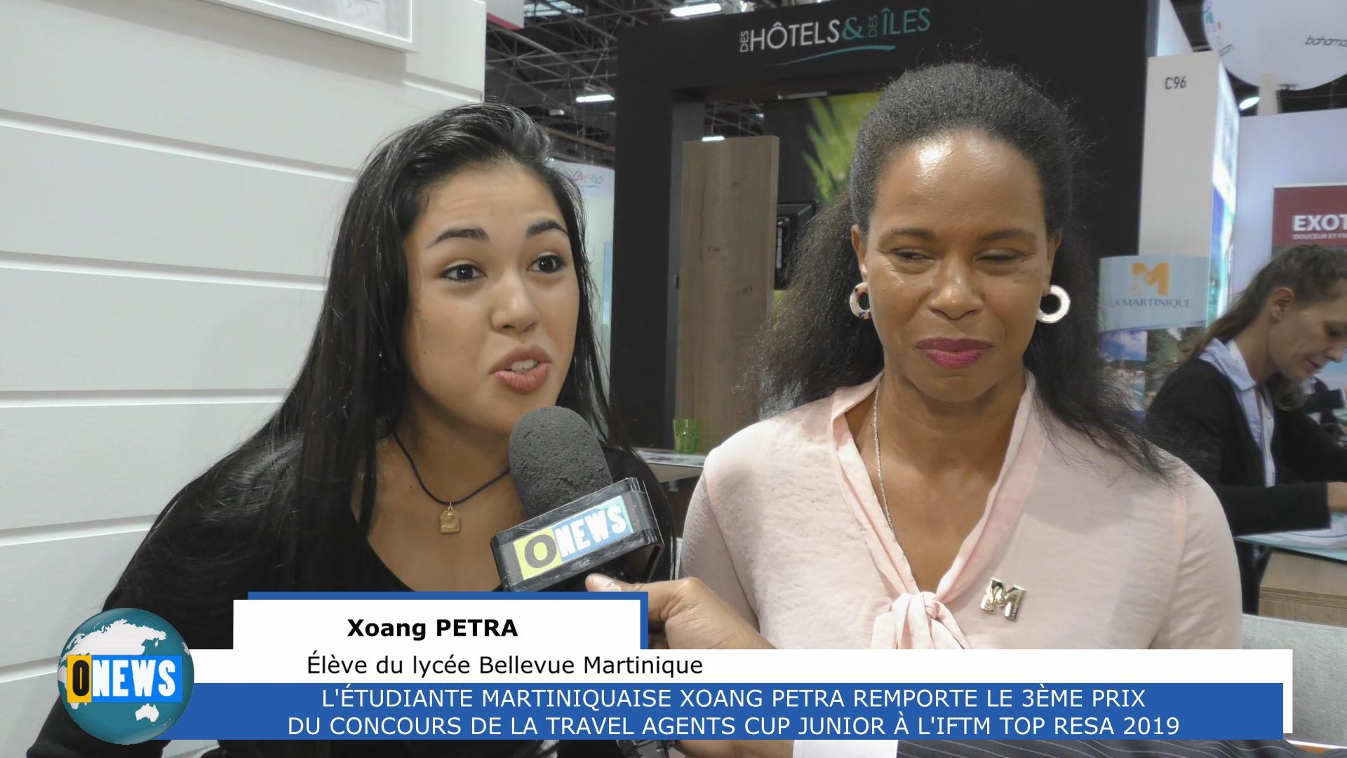[Vidéo] HEXAGONE. 3ème PRIX POUR L'ÉTUDIANTE MARTINIQUAISE XOANG PETRA A LA TRAVEL AGENTS CUP JUNIOR