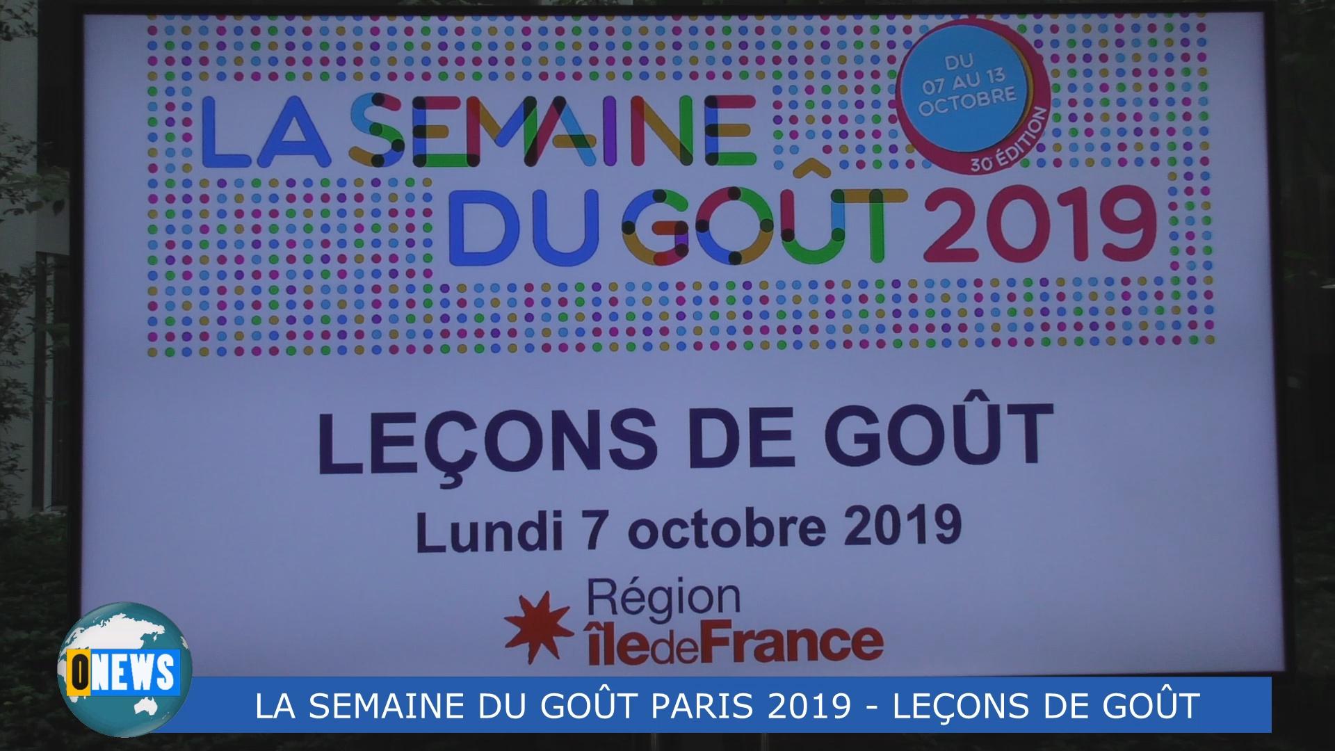 [Vidéo] HEXAGONE. La Semaine du Goût à la Région Ile de France avec Babette de ROZIERES