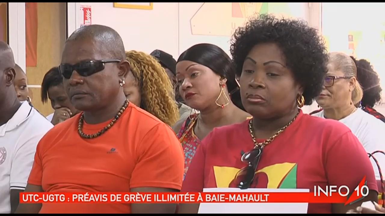 [Vidéo] GUADELOUPE. Guadeloupe Mouvement de grève illimitée à Baie Mahault (Images Canal 10)