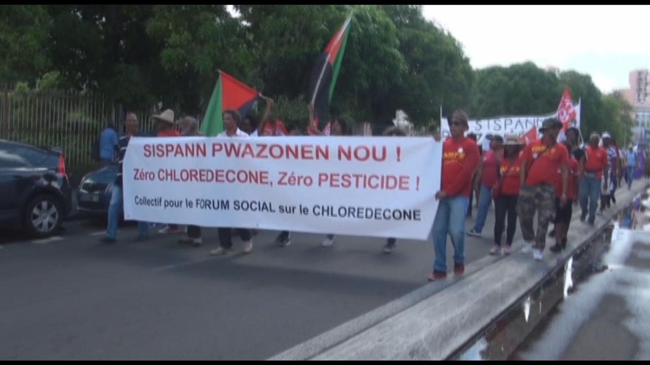 [Vidéo] MARTINIQUE Mouvement contre l'utilisation des Pesticides (Images KMT)