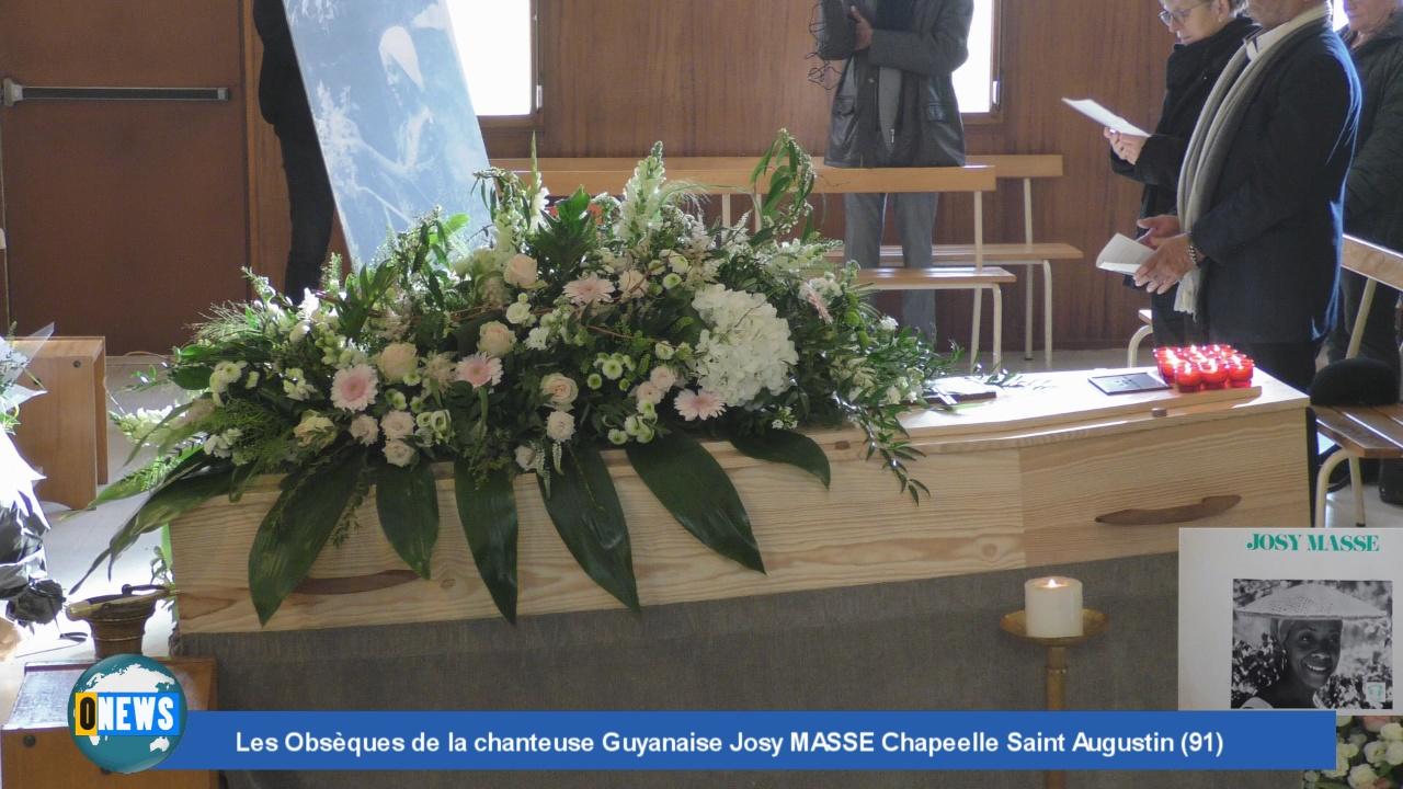[Vidéo] HEXAGONE., Les Obsèques de la chanteuse Guyanaise Josy MASSE Chapelle Saint Augustin (91)
