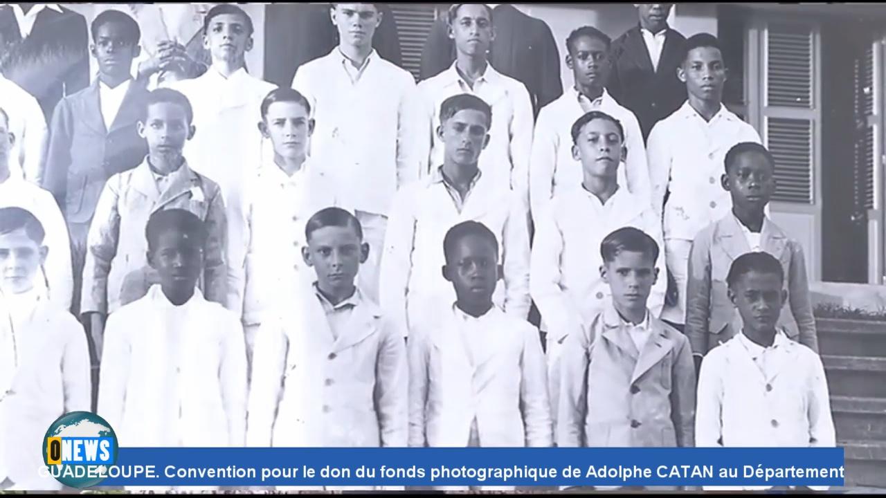 [Vidéo] Onews Guadeloupe. Convention pour le don du fonds photographique de Adolphe CATAN au Département