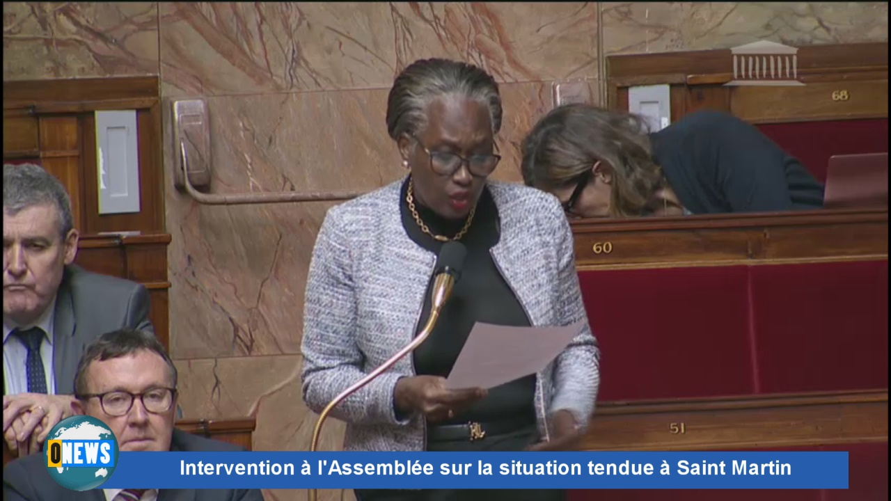 [Vidéo].  Intervention à l'Assemblée sur la situation à Saint Martin