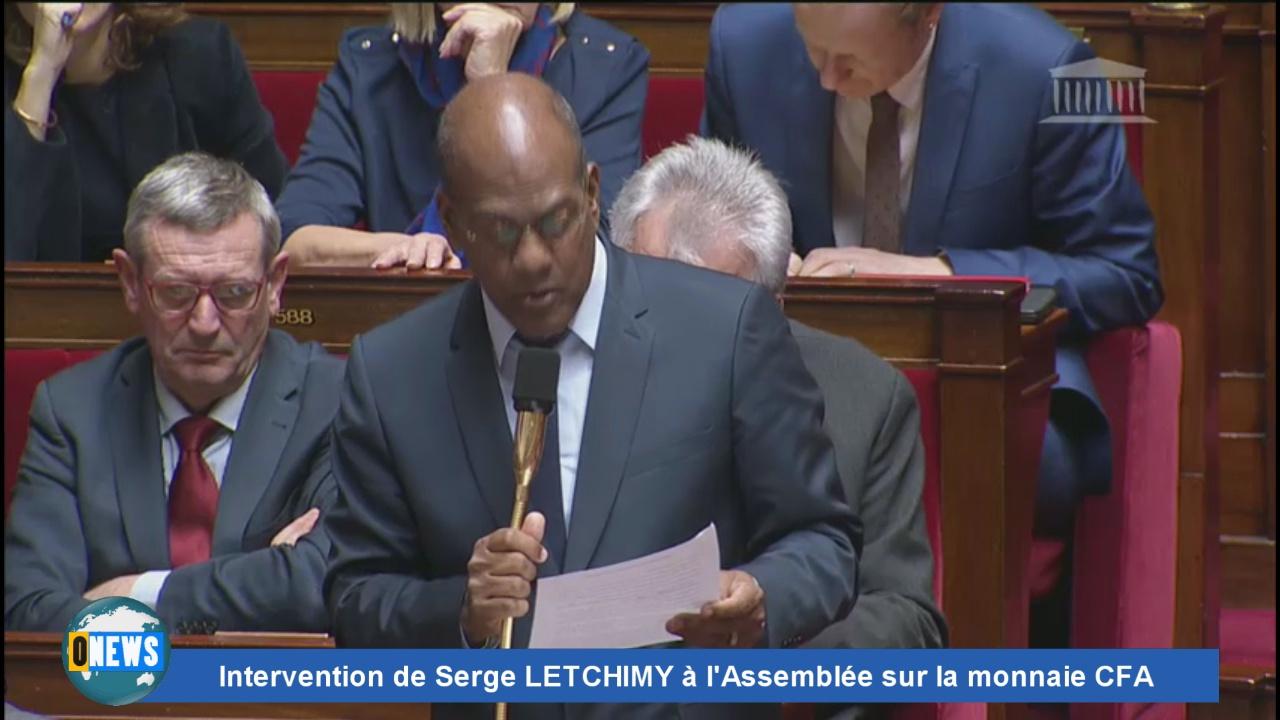 [vidéo] Intervention de Serge LETCHIMY à l'Assemblée sur la monnaie CFA