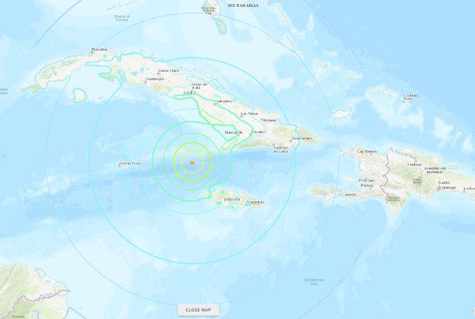 [Vidéo] Un puissant séisme de Magnitude 7 3 s'est produit il y a peu au large de la Jamaïque
