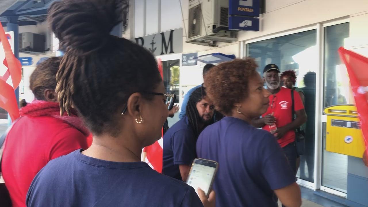 [Vidéo] MARTINIQUE. Mouvement de grève au Marin Fermeture vendredi du bureau de Poste