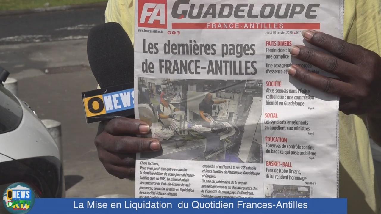 [Vidéo] ONEWS. Réactions en Guadeloupe après la liquidation du quotidien France Antilles