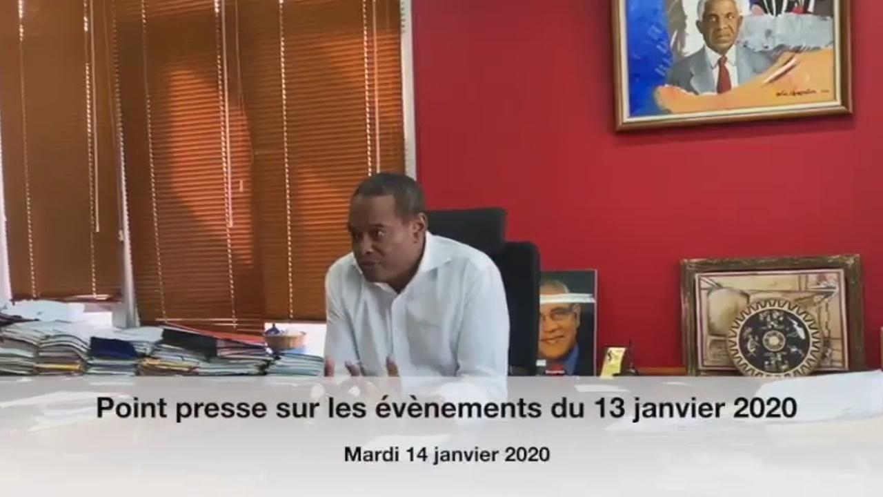 [Vidéo] MARTINIQUE. Didier LAGUERRE Maire de Fort de france suite aux violents incidents lundi dernier