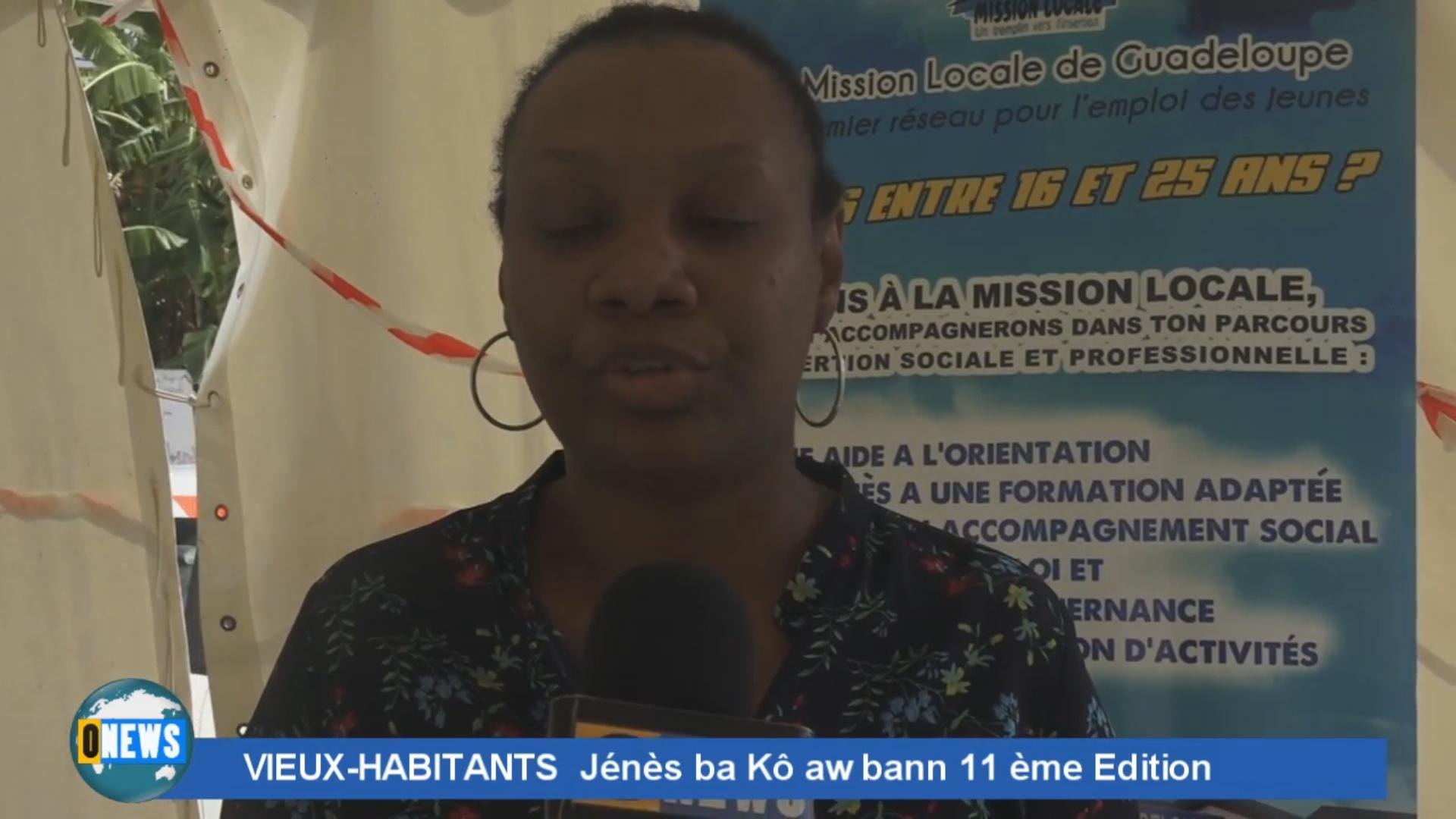 [ Vidéo]Onews Guadeloupe. JENES BA KO AW BANN