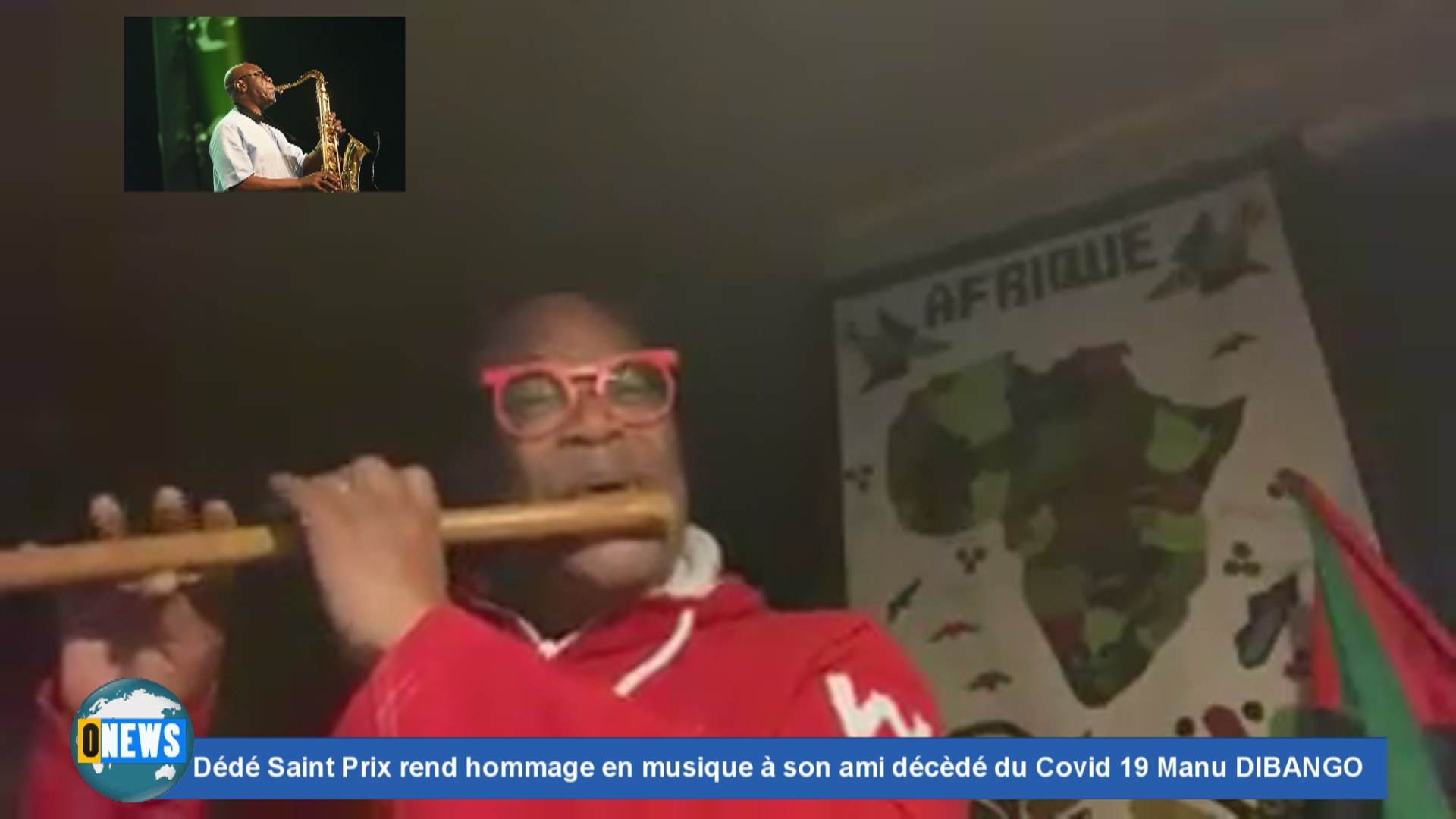 [Vidéo] Dédé SAINT PRIX Rend hommage en musique à son ami décèdé du Covid 19 Manu DIBANGO
