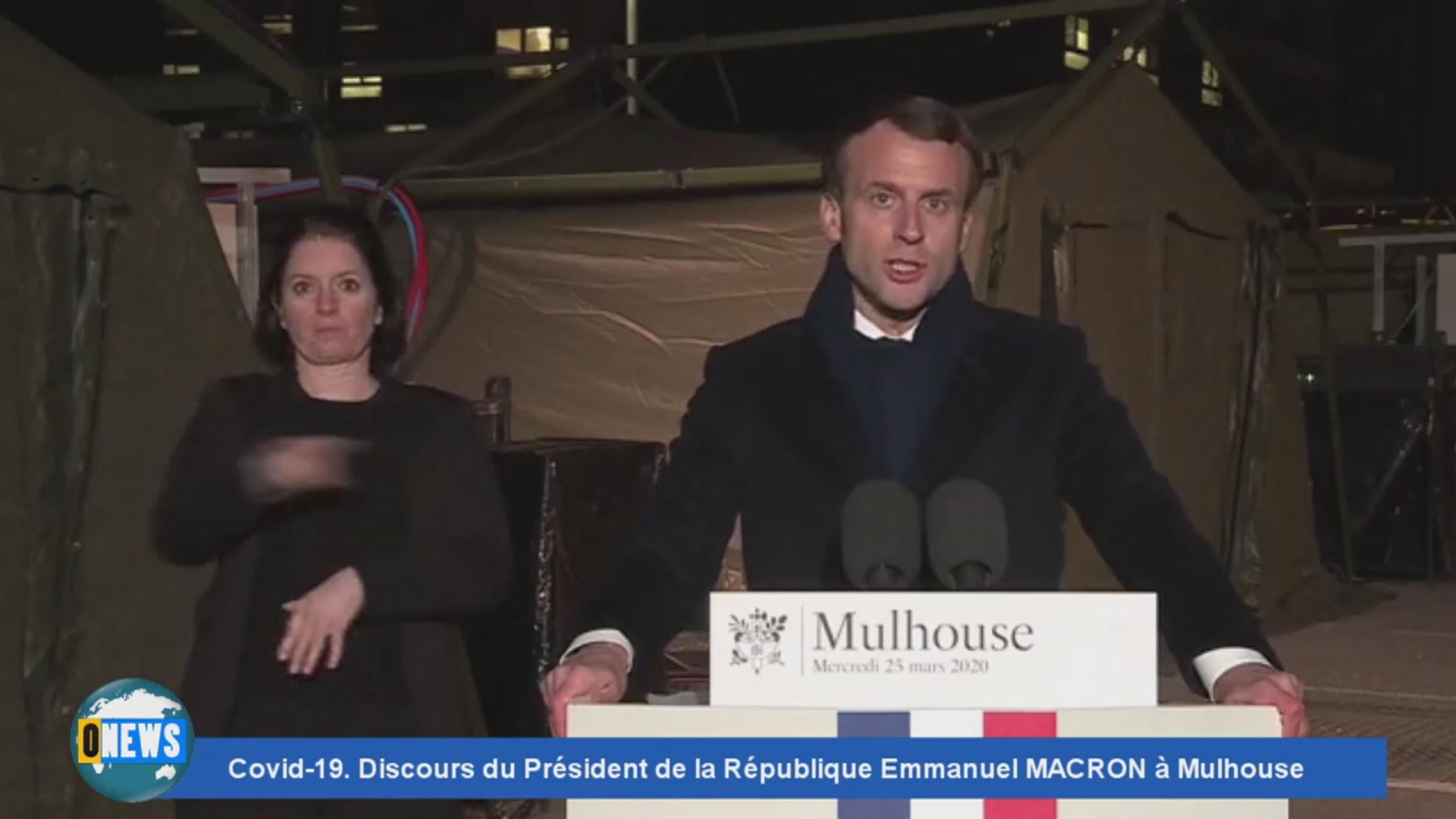 [Vidéo] Covid 19.Discours du Président de la République à Mulhouse ce mercredi 25 mars