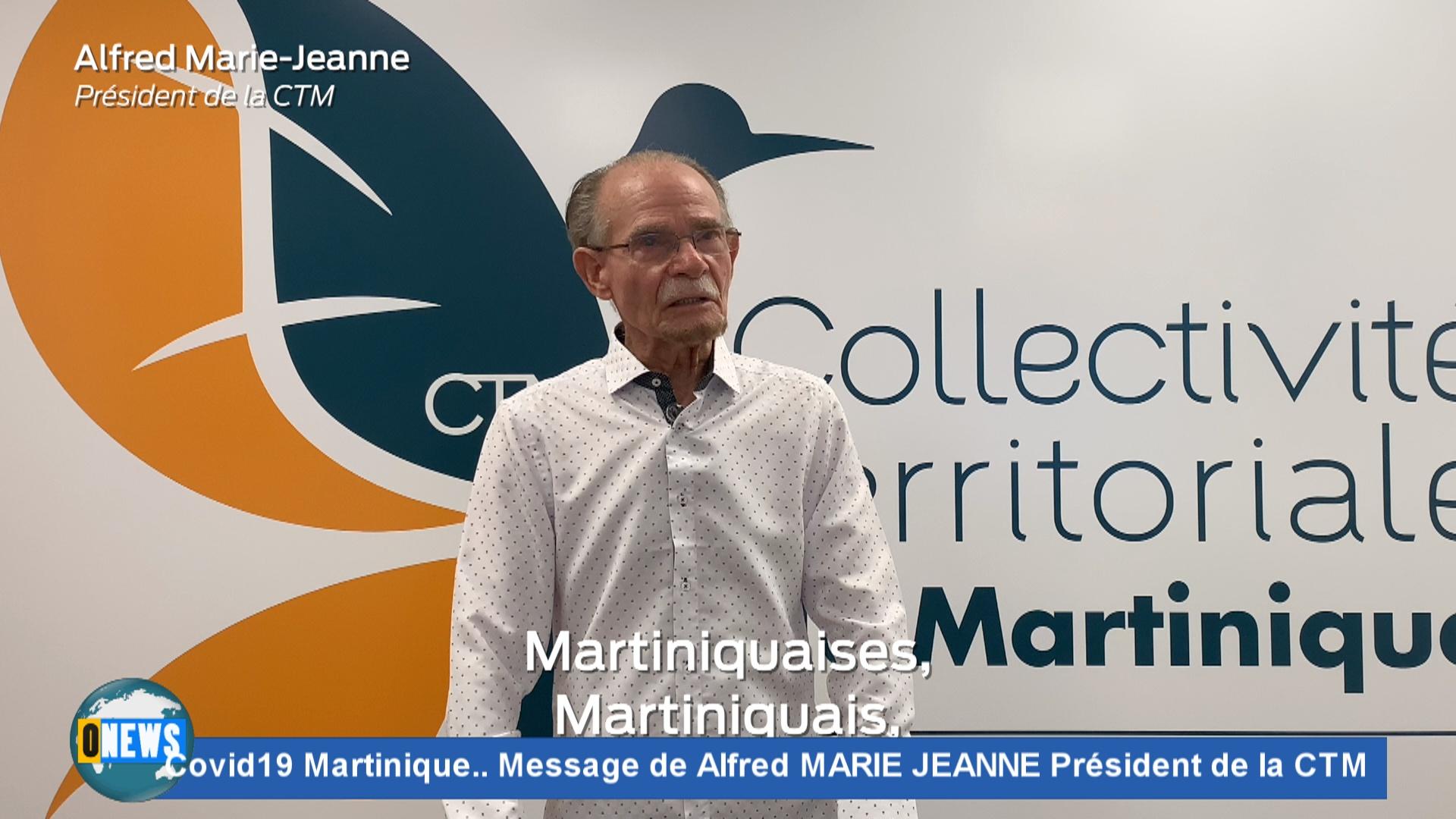 [Vidéo] Covid19 Martinique Message de Alfred MARIE JEANNE Président de la CTM
