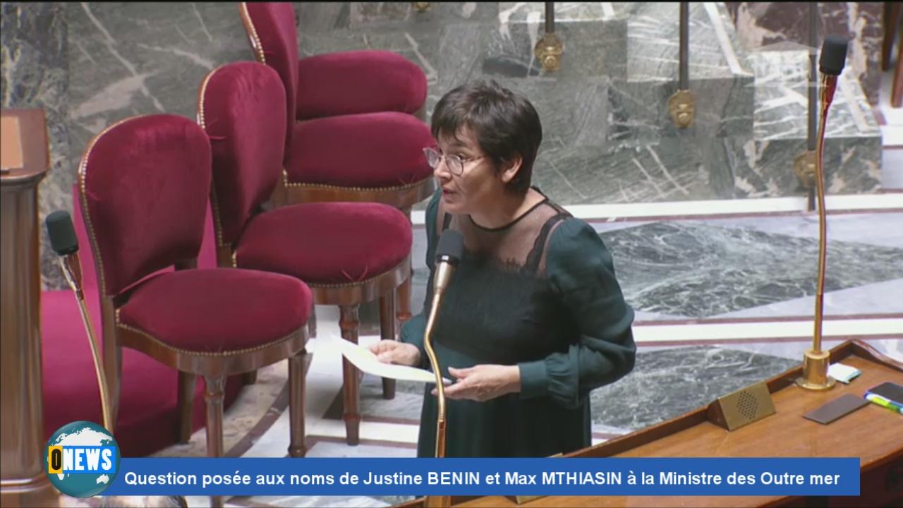 [Vidéo] Covid 19. Question posée aux noms de Justine BENIN et Max MTHIASIN à la Ministre des Outre mer Annick GIRARDIN