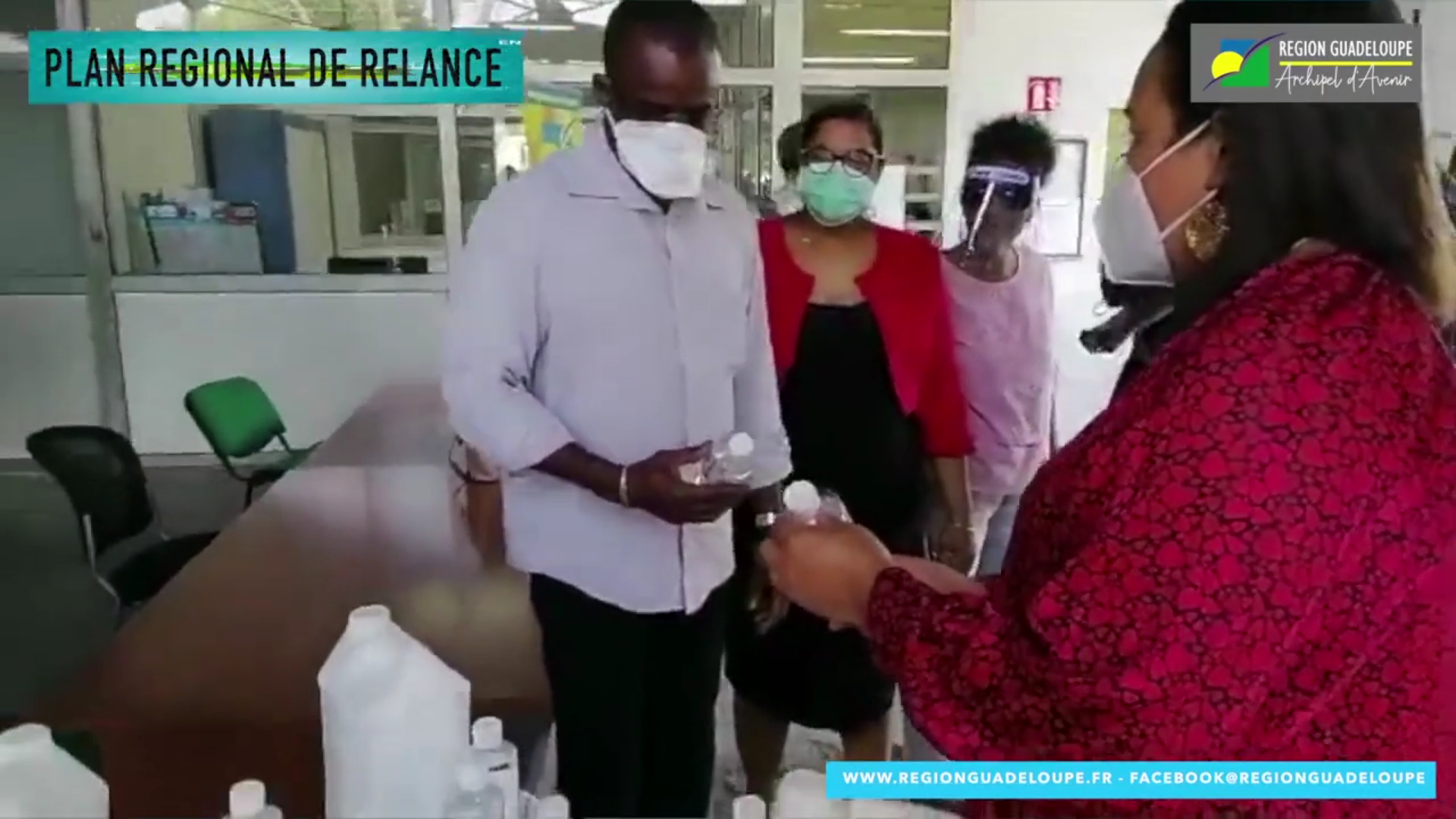 [Vidéo] Covid 19.Guadeloupe. Une offre Régionale à moindre de coût d une solution hydro-alcoolique