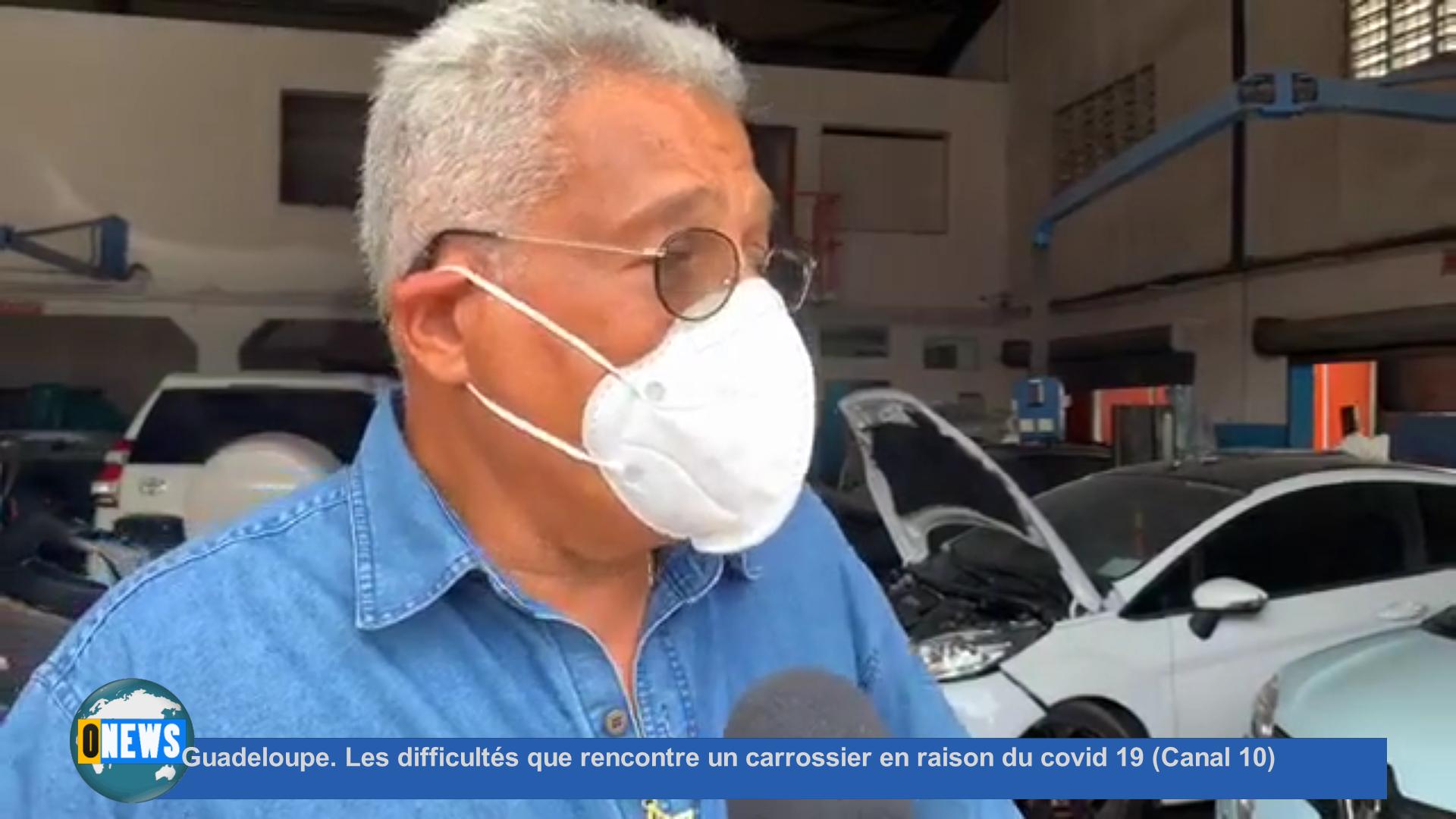 [Vidéo] Guadeloupe. Les difficultés que rencontre un carrossier en raison du covid 19 (Canal 10)