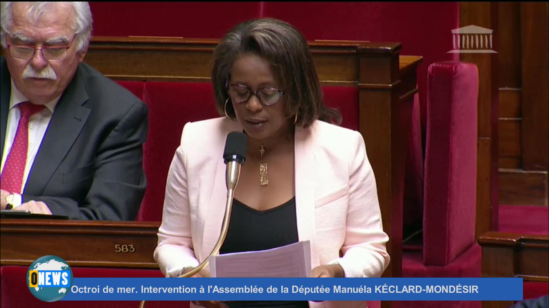 [Vidéo]Octroi de mer. Intervention à l'Assemblée de la Députée Manuéla KÉCLARD-MONDÉSIR