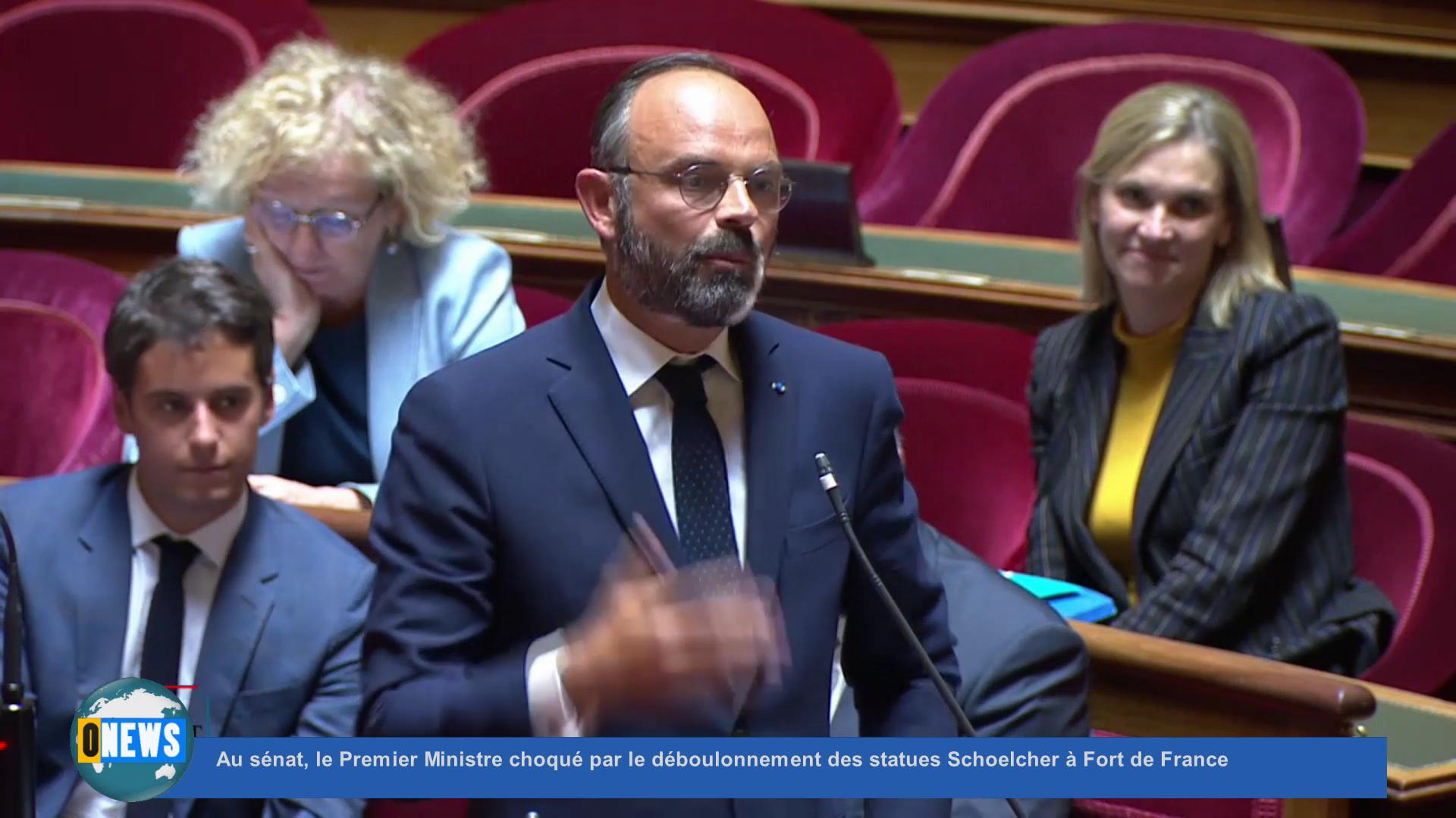 [Vidéo] Au sénat, le Premier Ministre choqué par le déboulonnement des statues Schoelcher à Fort de France