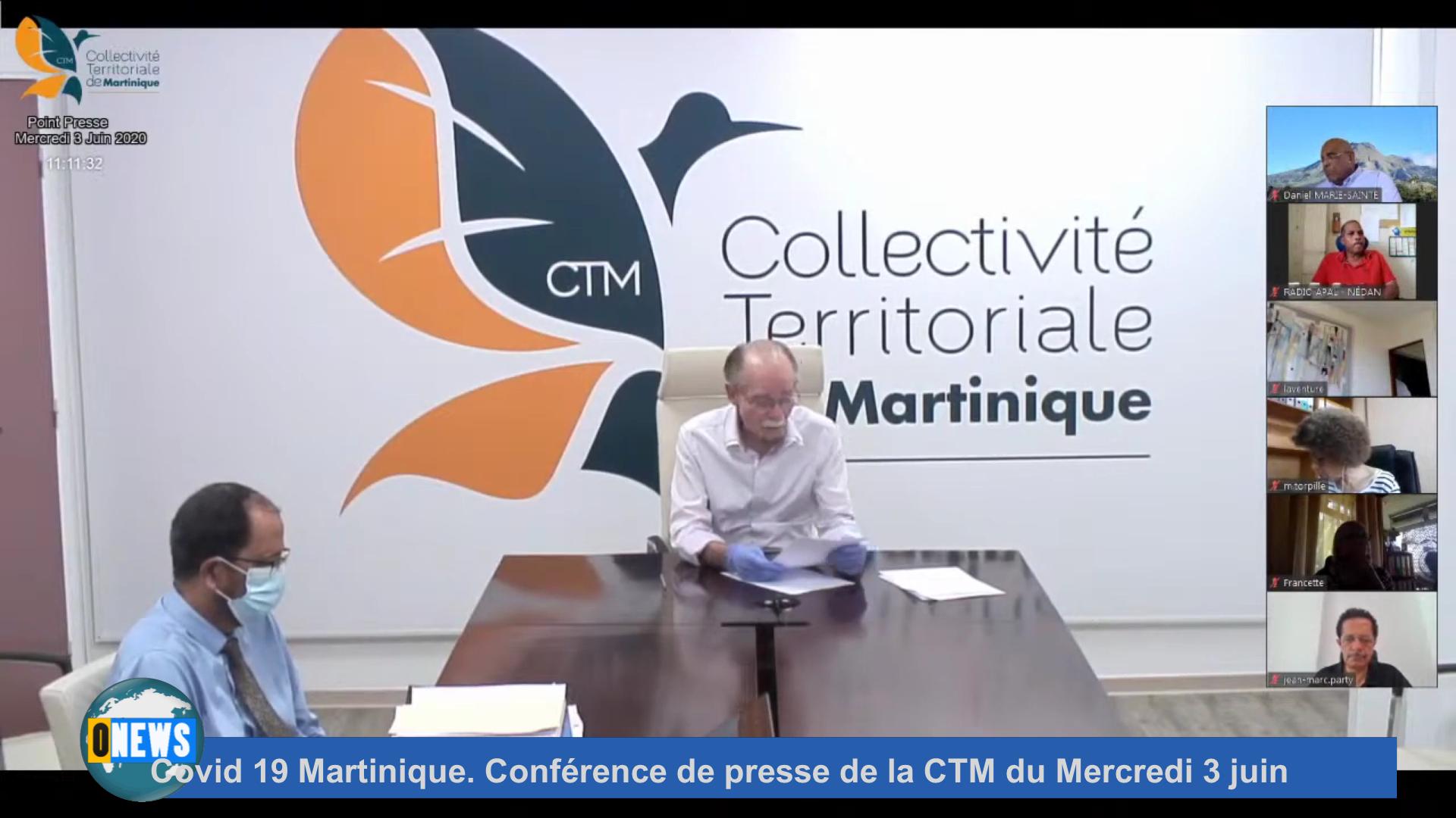 [Vidéo] Covid 19 Martinique. Conférence de presse de la CTM du Mercredi 3 juin