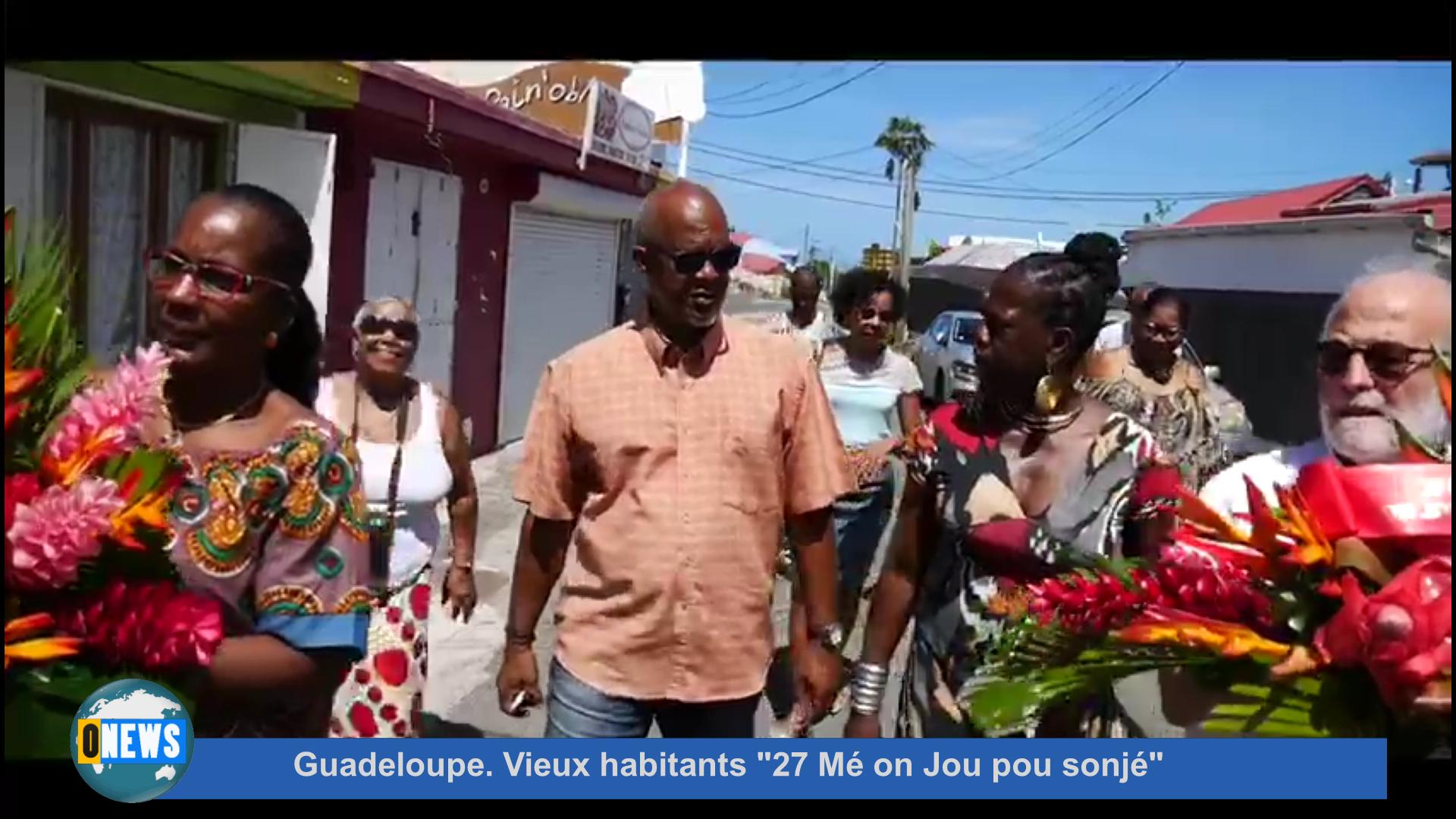 [Vidéo] Guadeloupe. Vieux habitants 27 Mé on Jou pou sonjé.