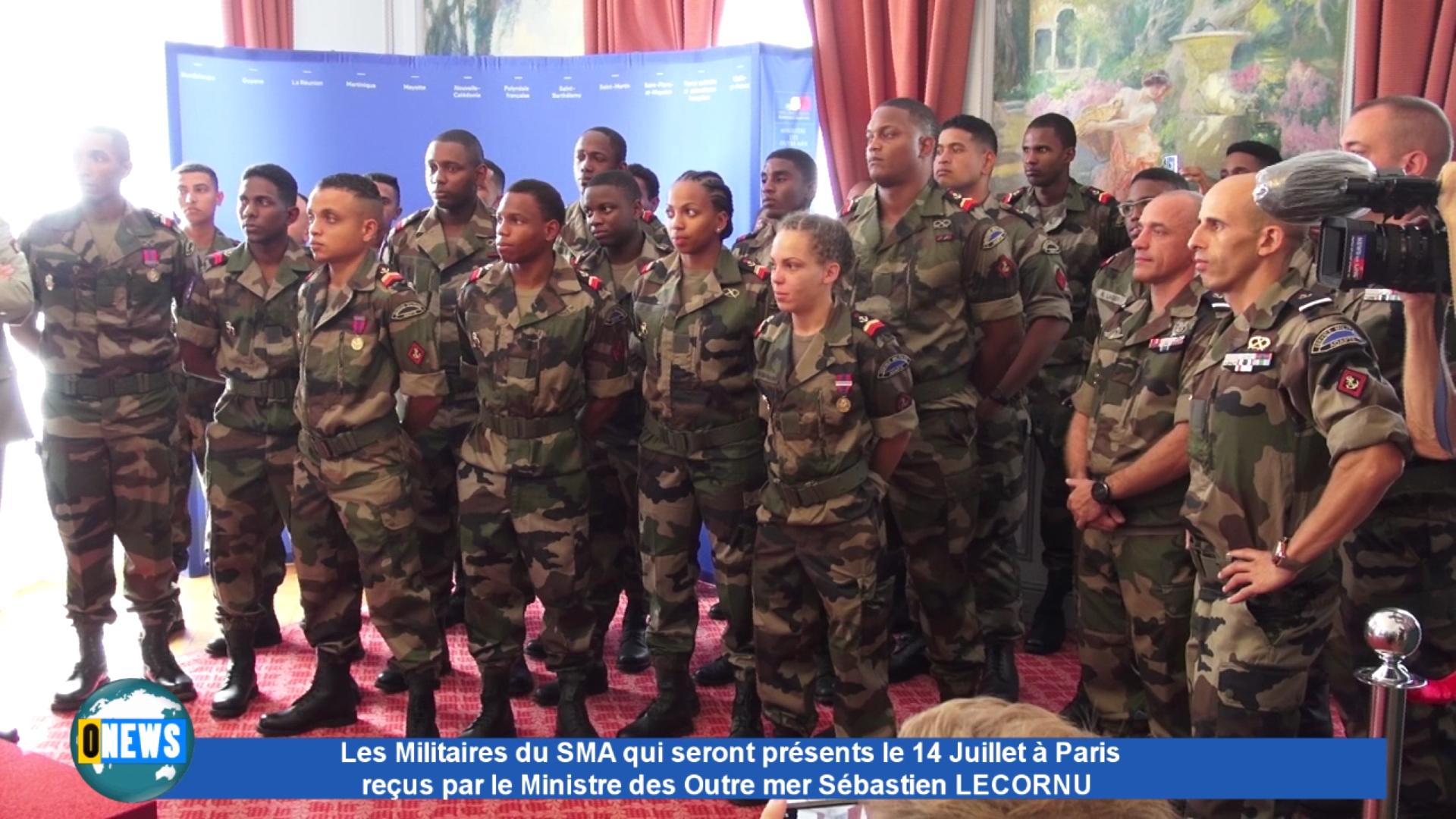 [Vidéo] Accueil des Militaires du Sma à Paris pour le 14 juillet par le Ministère des Outre mer