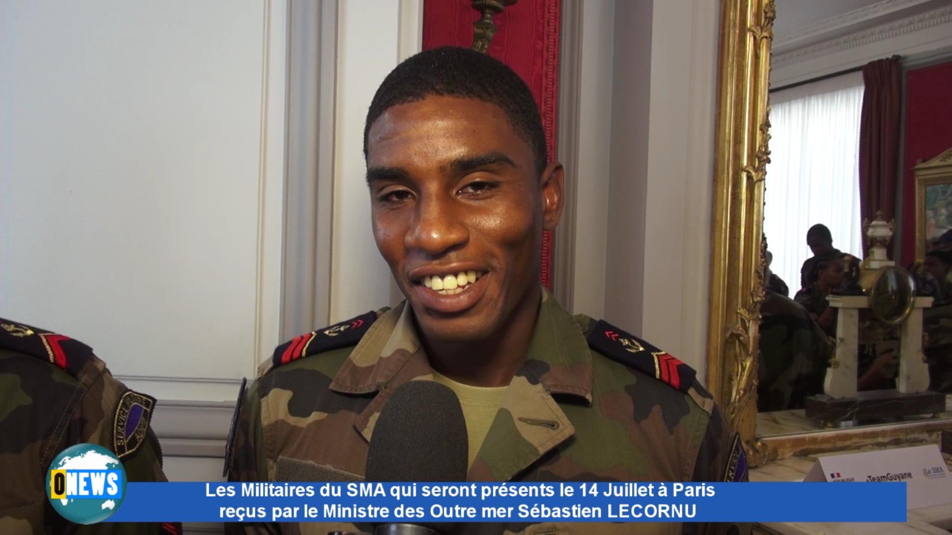 [Vidéo] Onews.Réactions des Militaires du SMA à Paris pour le 14 Juillet au Ministère des Outre mer