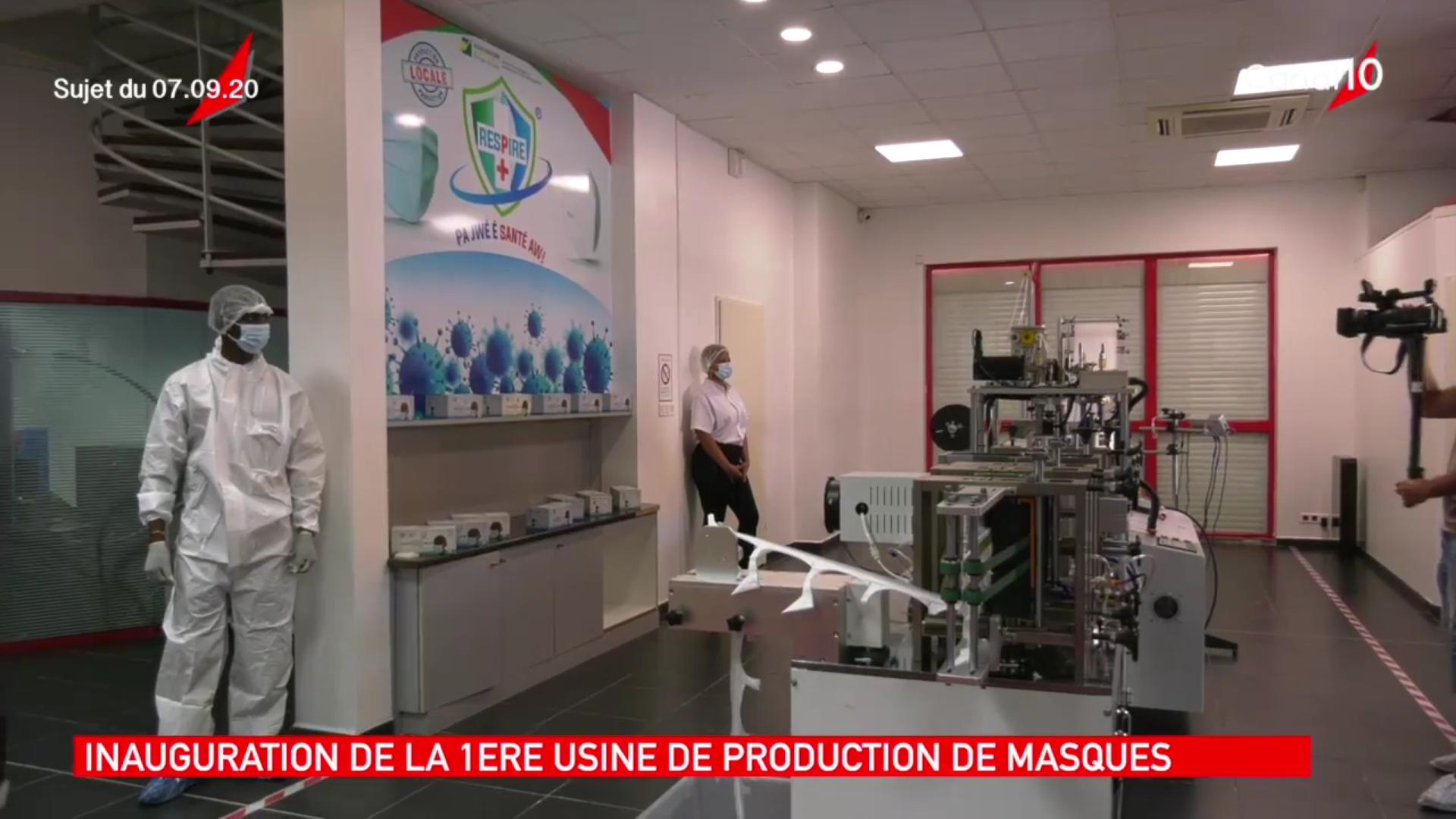 [Vidéo] Onews Guadeloupe. Inauguration de la première usine de Masques