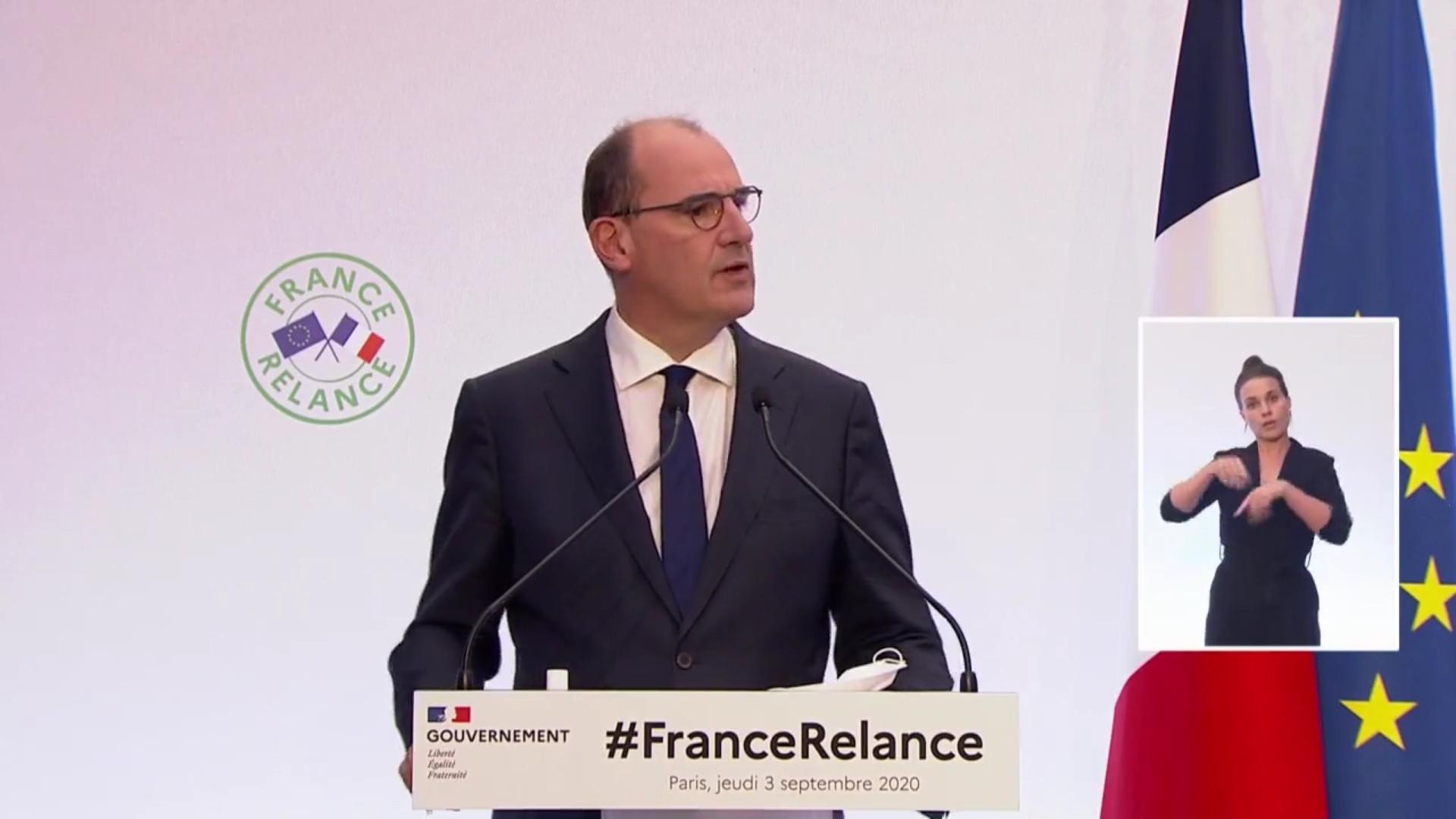 [Vidéo] Onews. Le Premier Ministre dévoile son plan France relance face à la crise sanitaire d'un montant de 100 milliards.