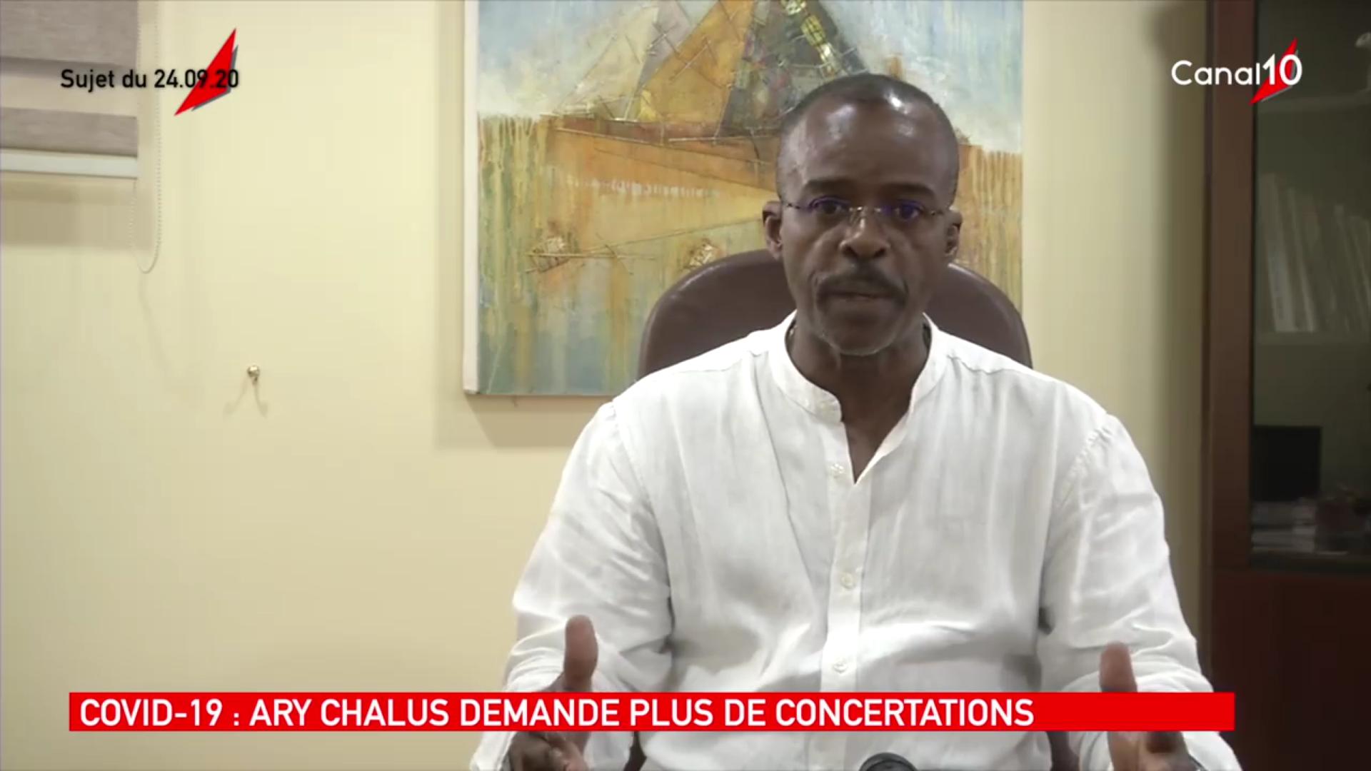 [Vidéo] Onews Guadeloupe.Covid.Réaction de Ary Chalus Président de Région suite aux mesures décidées (Canal 10)