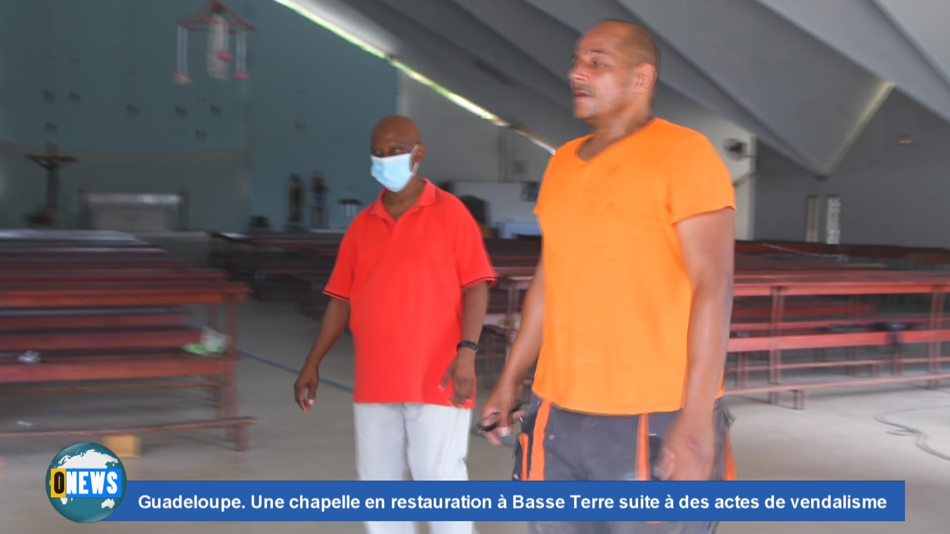 [Vidéo] Onews Guadeloupe. Une chapelle en restauration à Basse Terre suite à des actes de vandalisme