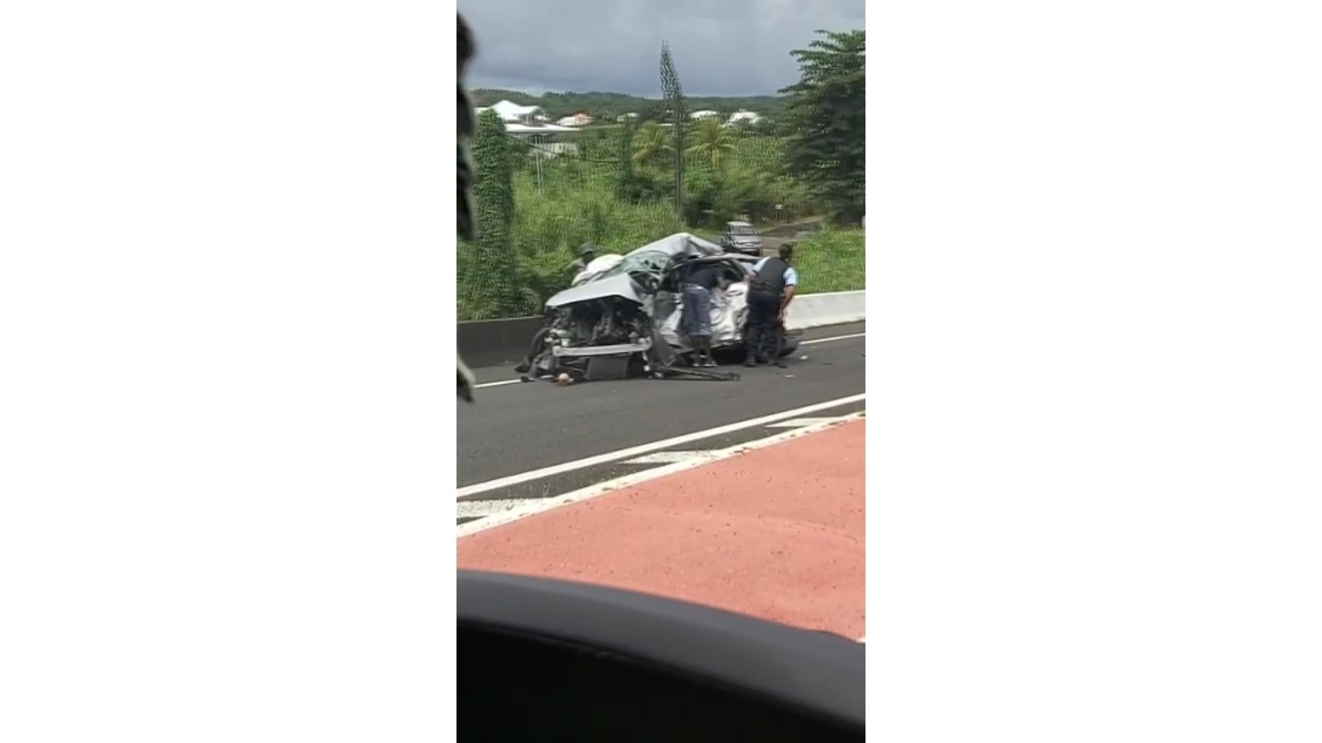 [vidéo] Onews Guadeloupe. Accident de la circulation. 1 mort et 2 blessés