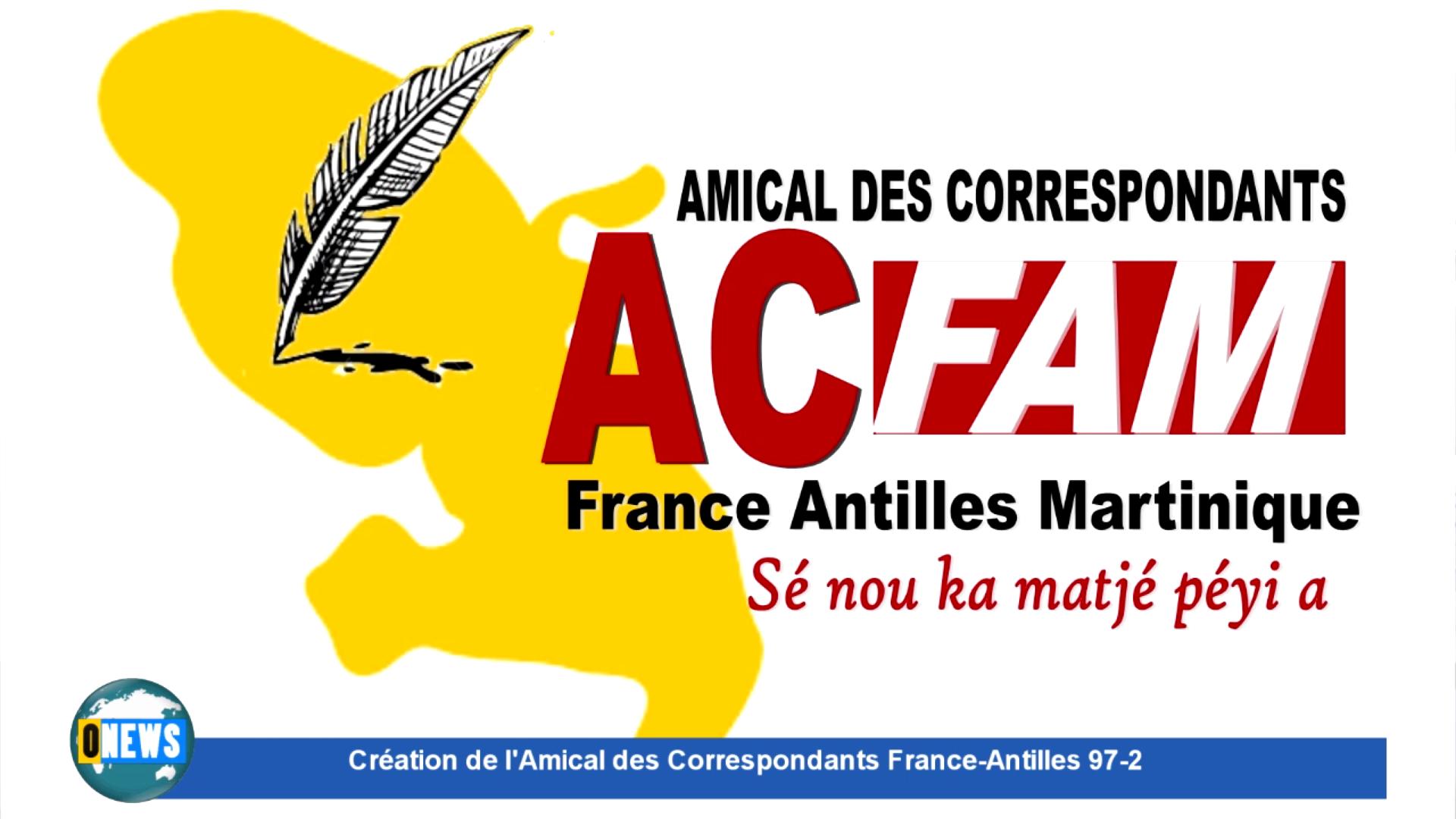 [Vidéo] Onews Martinique. Création de l'Amical des Correspondants France-Antilles 97-2
