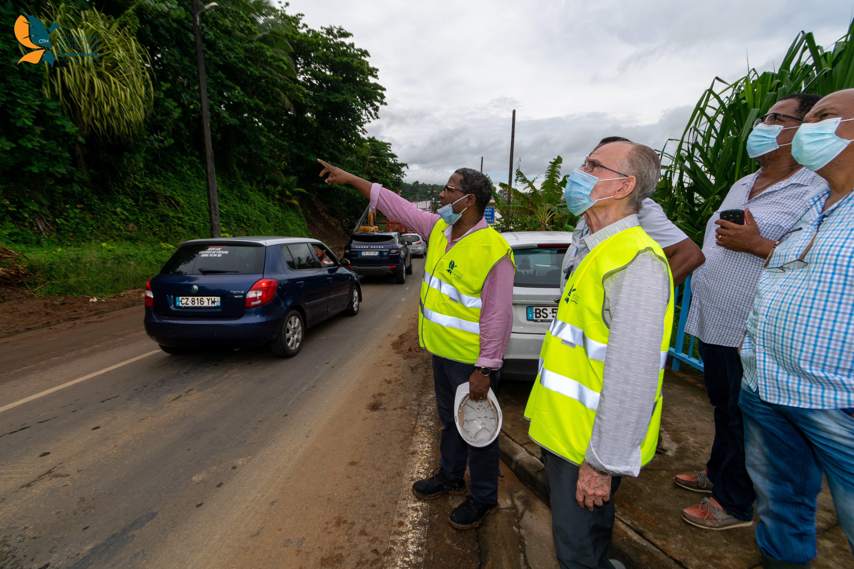 [Vidéo] Onews Martinique. Alfred MARIE JEANNE Président de la CTM Au Lorrain après les inondations