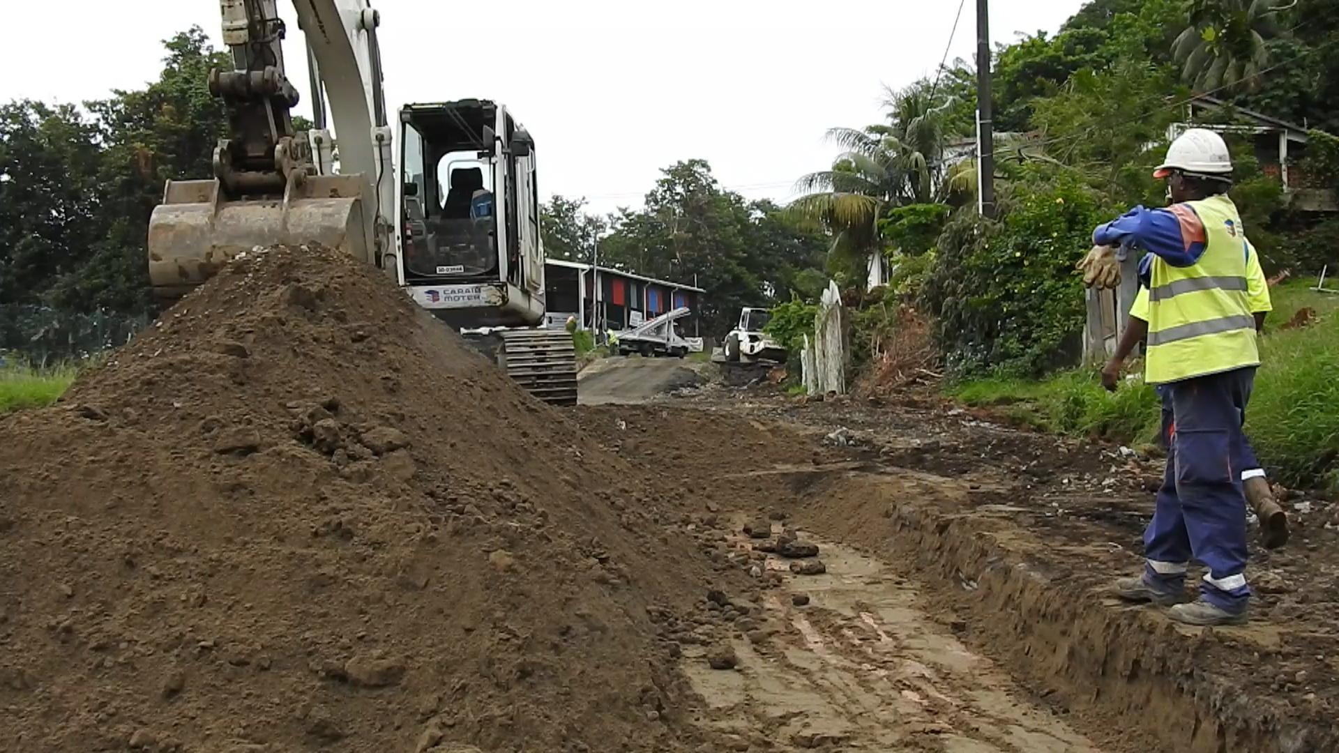 [Vidéo] Martinique. Intempéries début des travaux RN1 à Sainte Marie