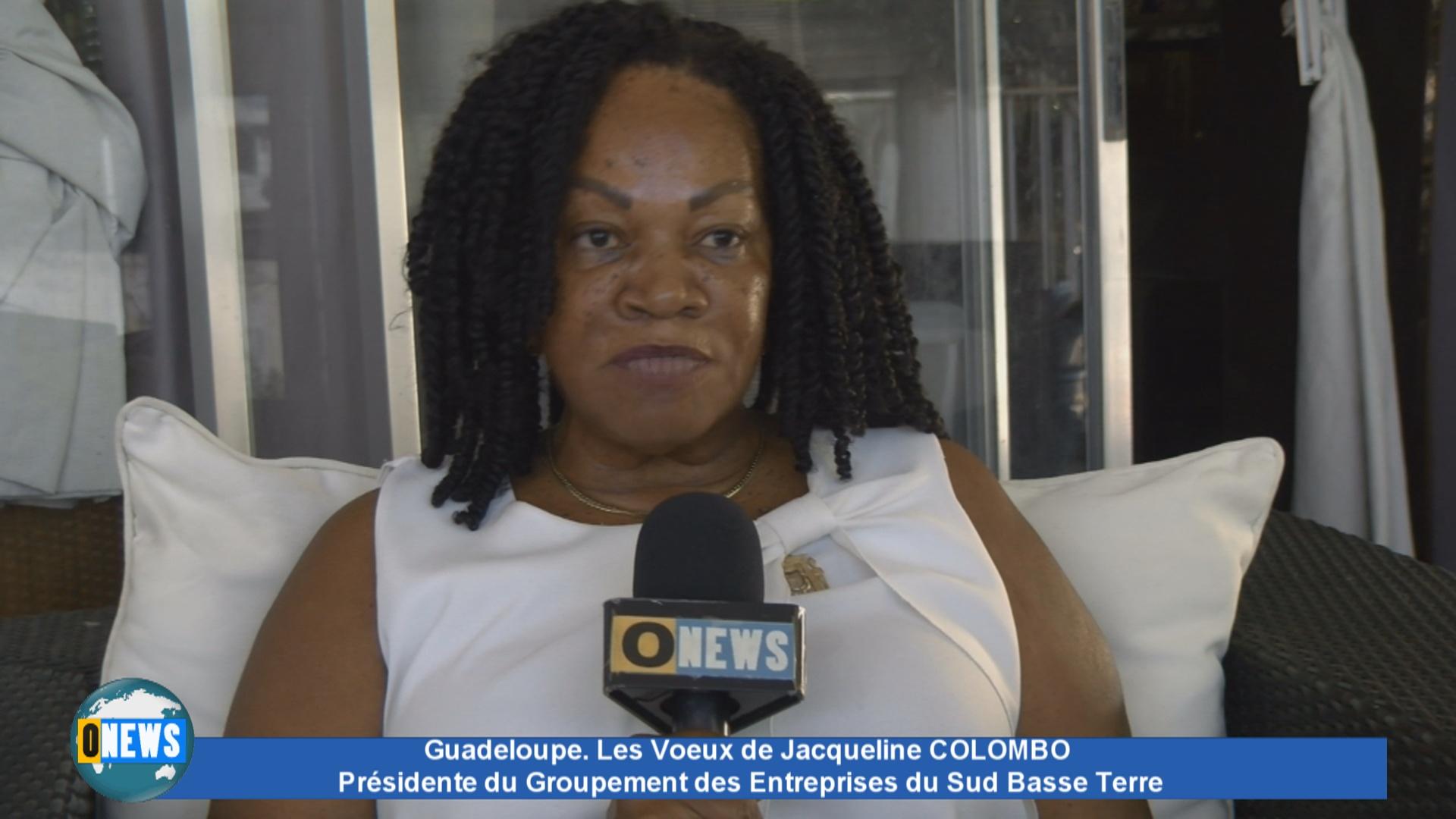 Onews Guadeloupe. Les Voeux de Jacqueline COLOMBO Présidente Groupement des Entreprises Sud Basse Terre