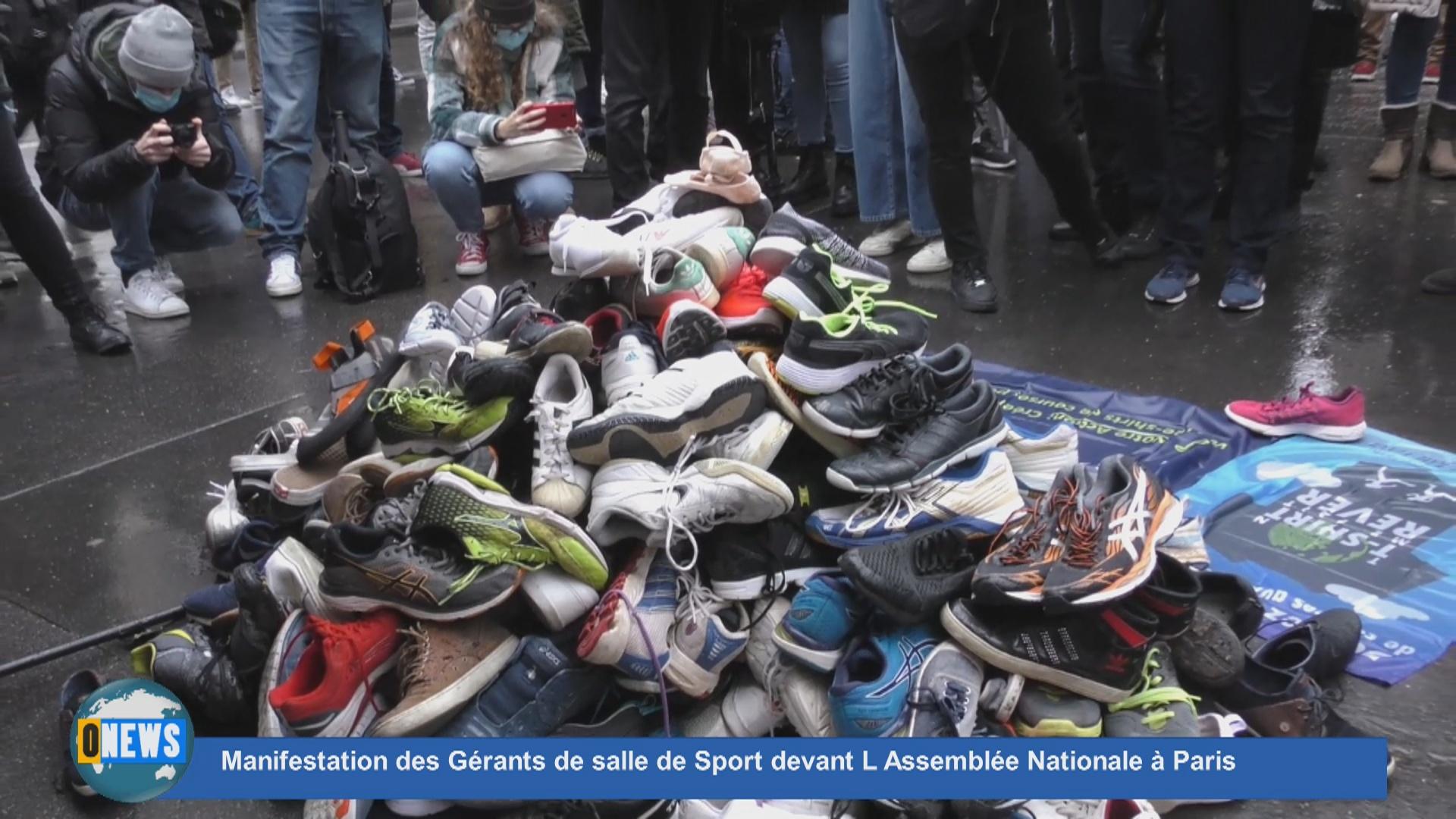 Onews Hexagone. Manifestation des Gérants de salle de Sport devant L Assemblée Nationale à Paris