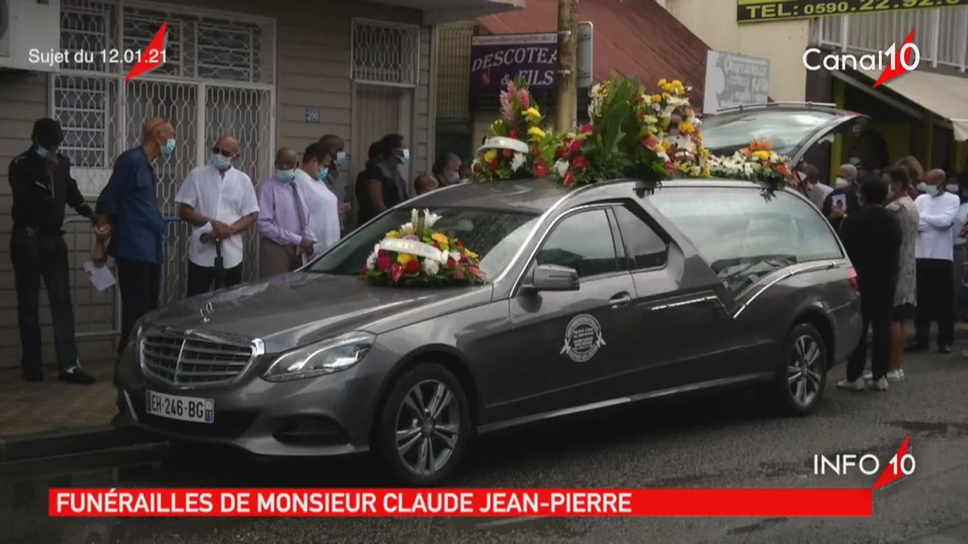 Onews Guadeloupe. Le Jt de Canal 10. a la une les funérailles de Claude JEAN PIERRE à Deshaies.