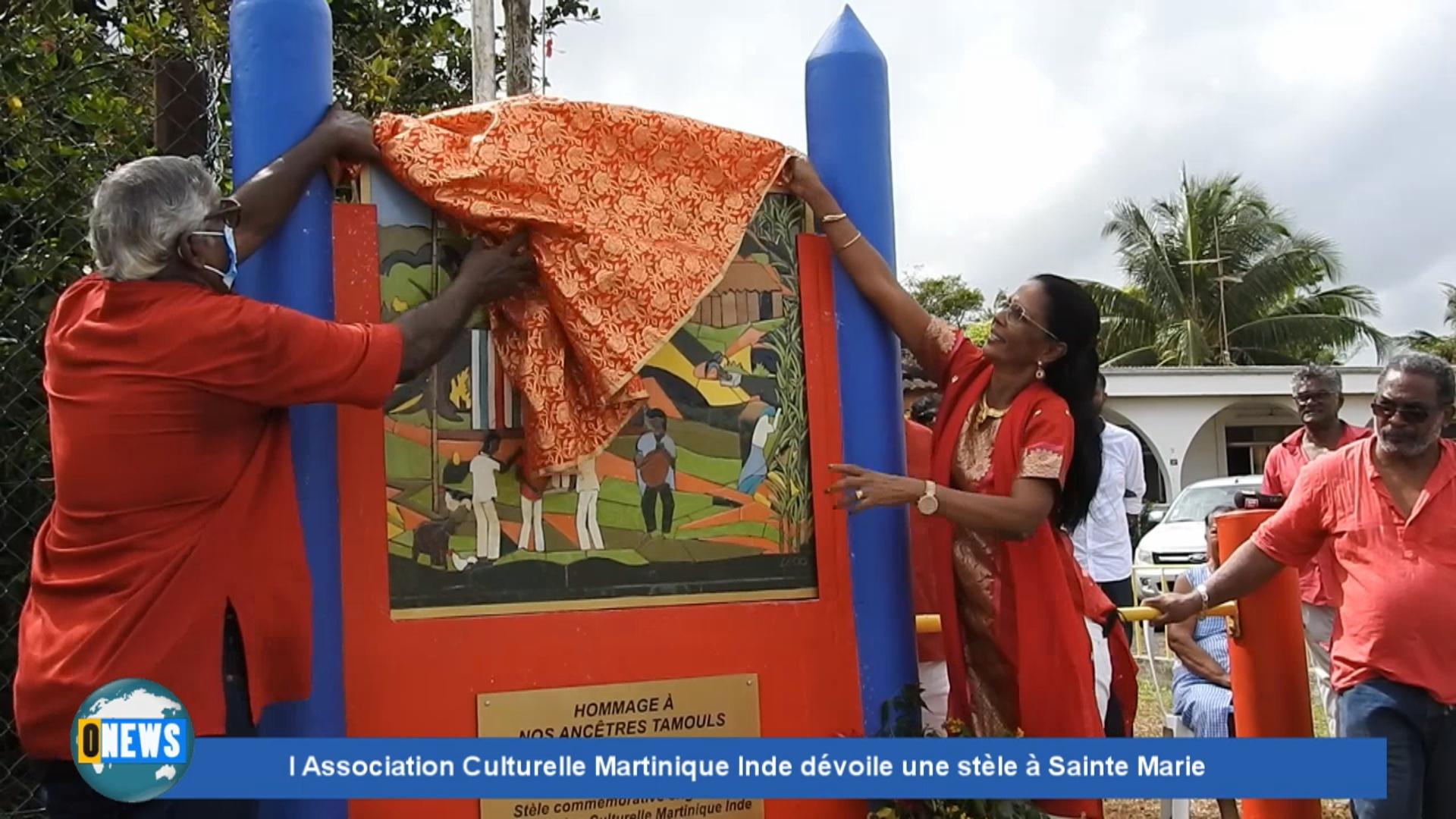 [Vidéo] Onews. L Association Martinique Inde dévoile une stèle à Sainte Marie